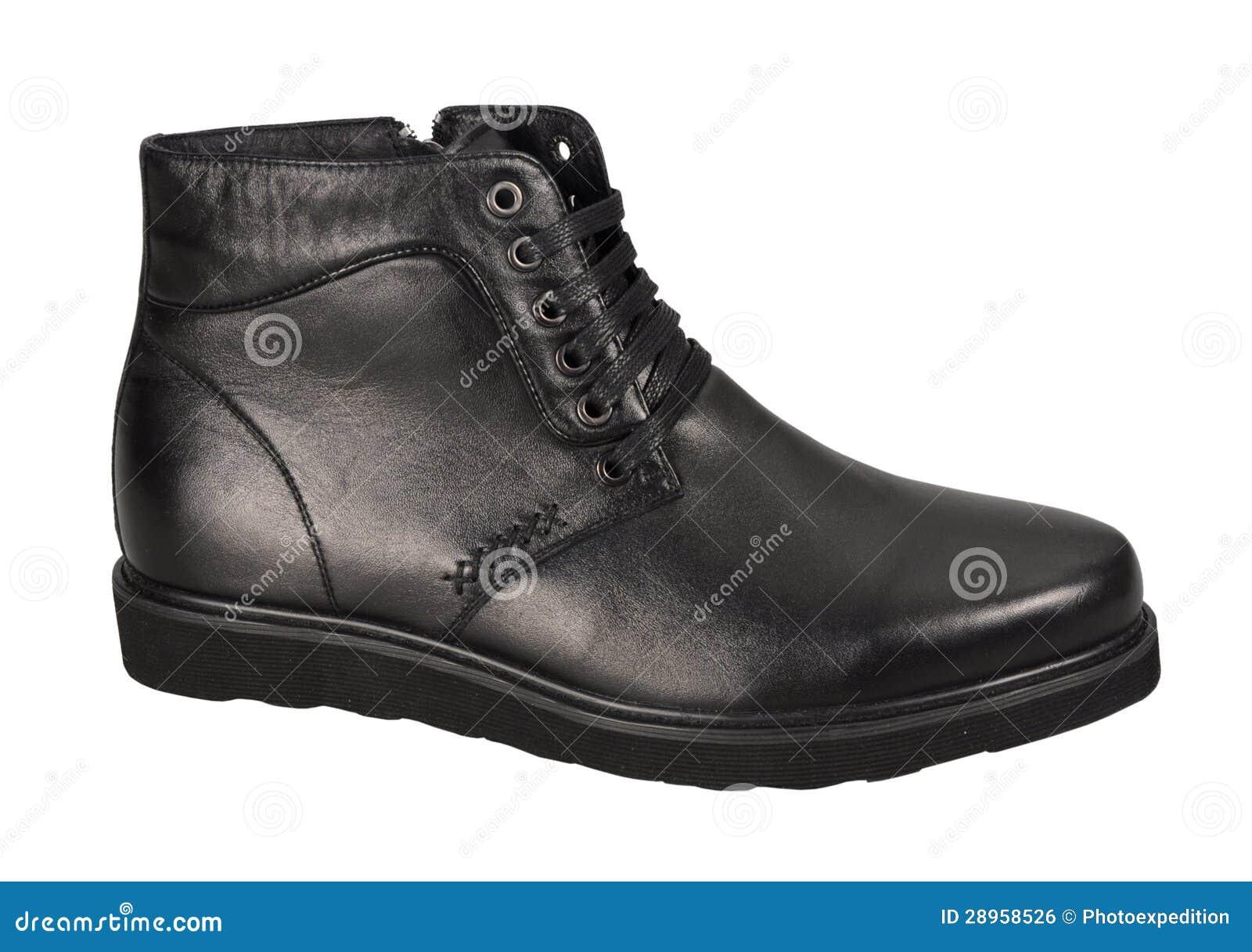 Zima mężczyzna but odizolowywający