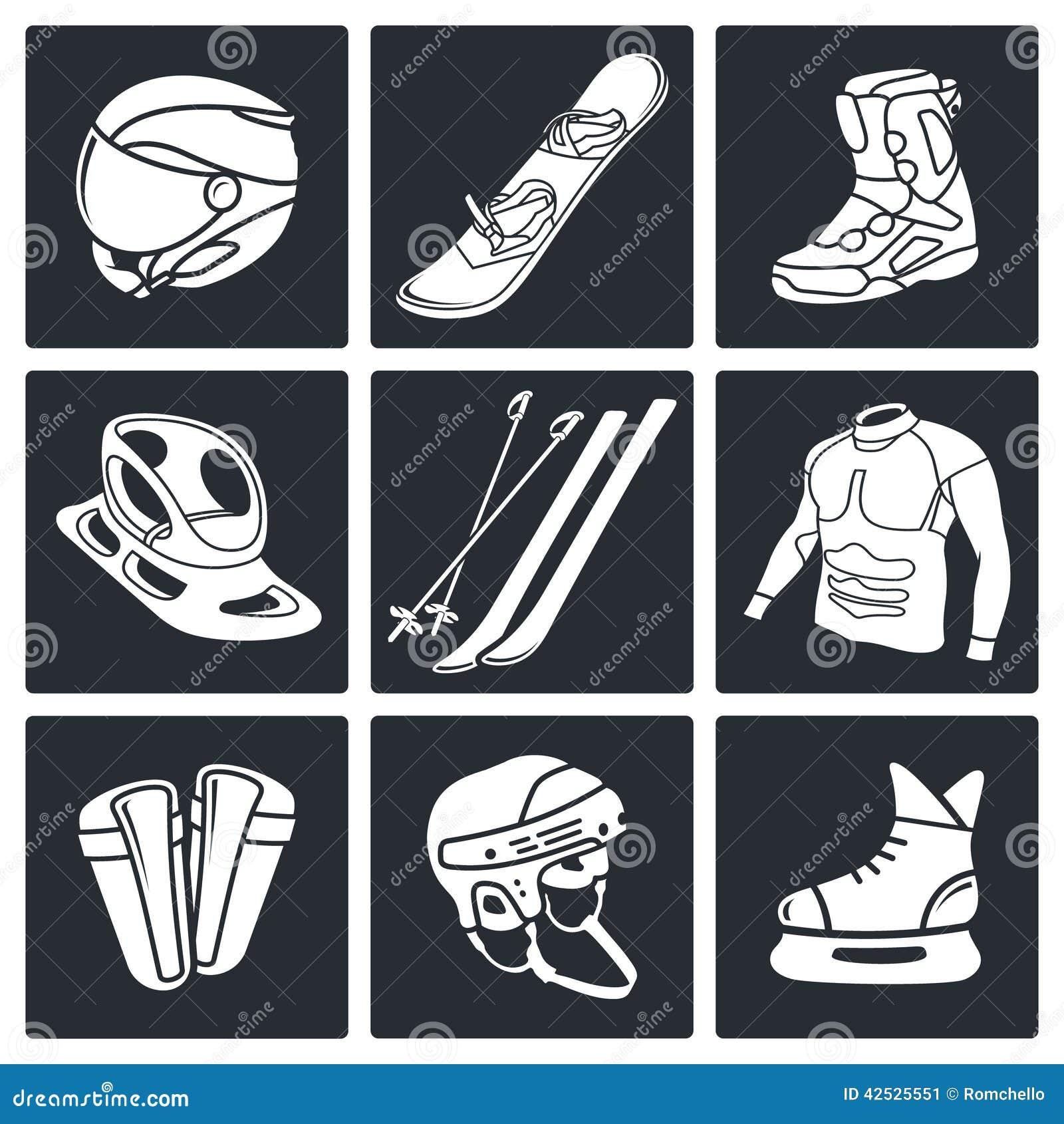 Zima sportów ikony kolekcja