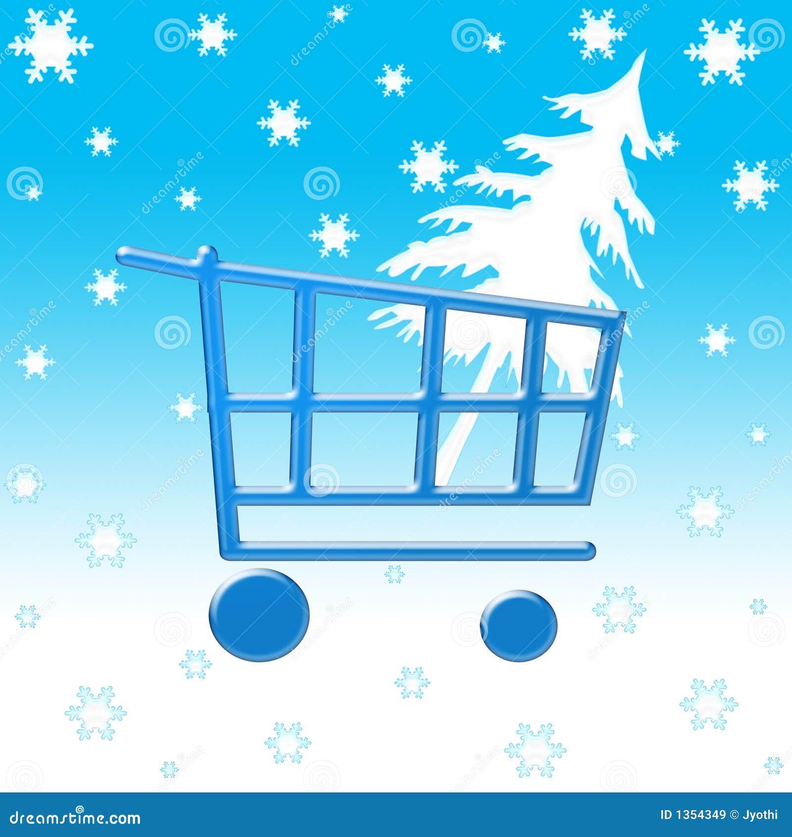 Zima wózek na zakupy