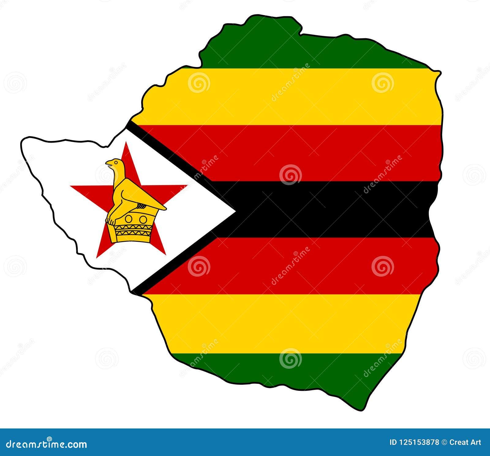 Zimbabwe . Map Of Zimbabwe Vector Illustration Stock Vector ...