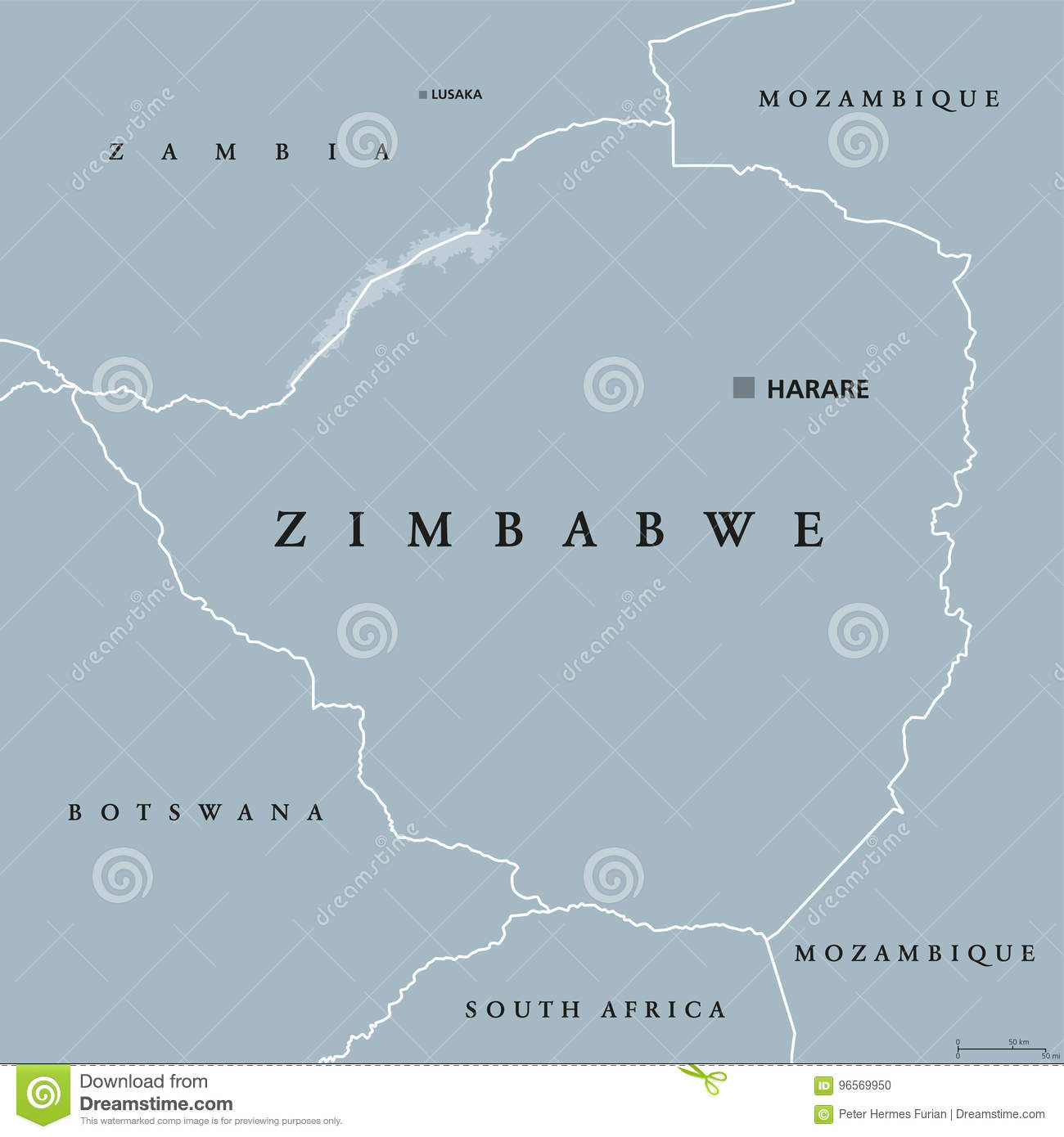 Map Of South Africa And Zimbabwe.Zimbabwe Political Map Stock Vector Illustration Of Destination