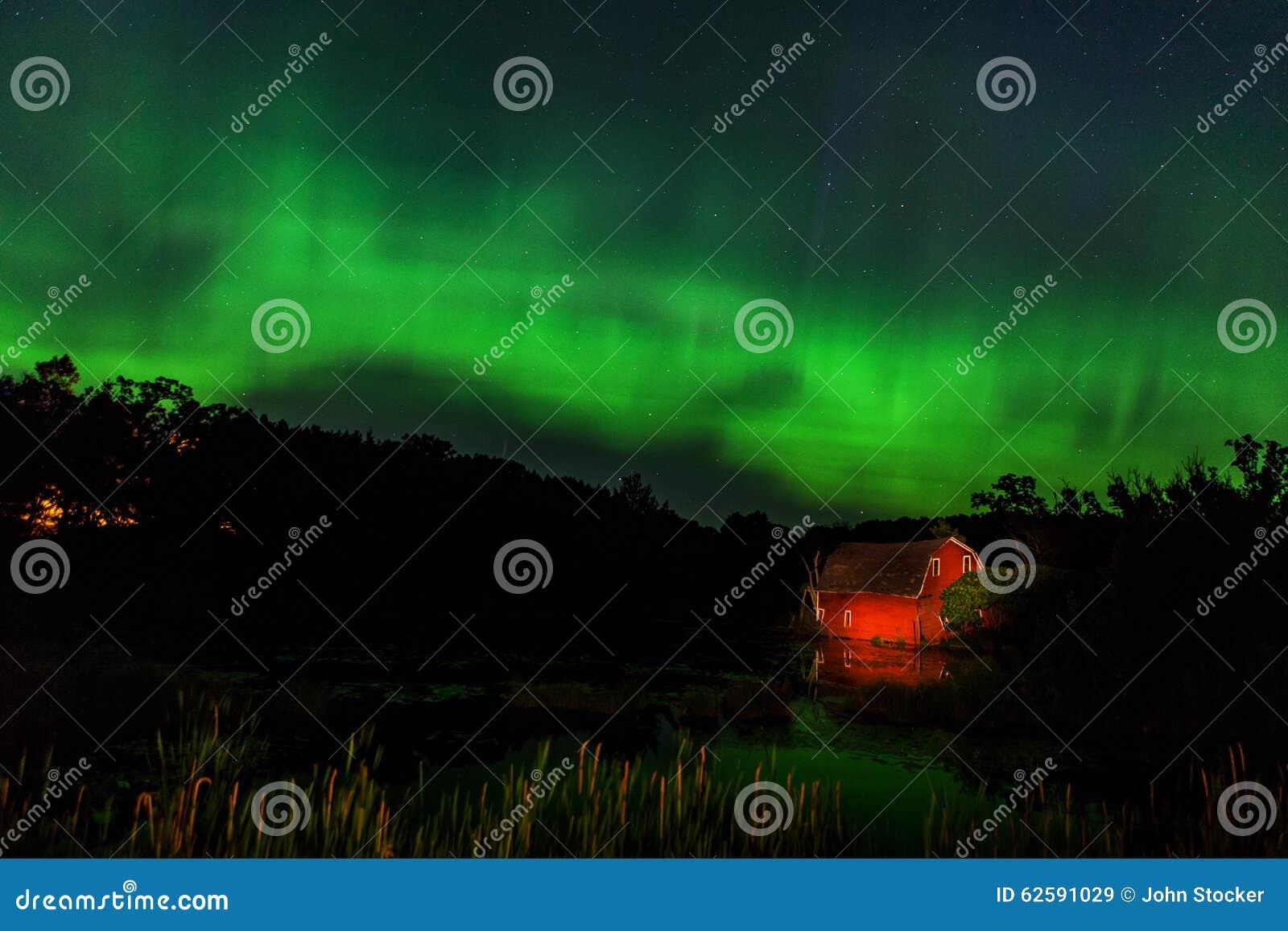 zimmerman aurora stock image image of still borealis 62591029