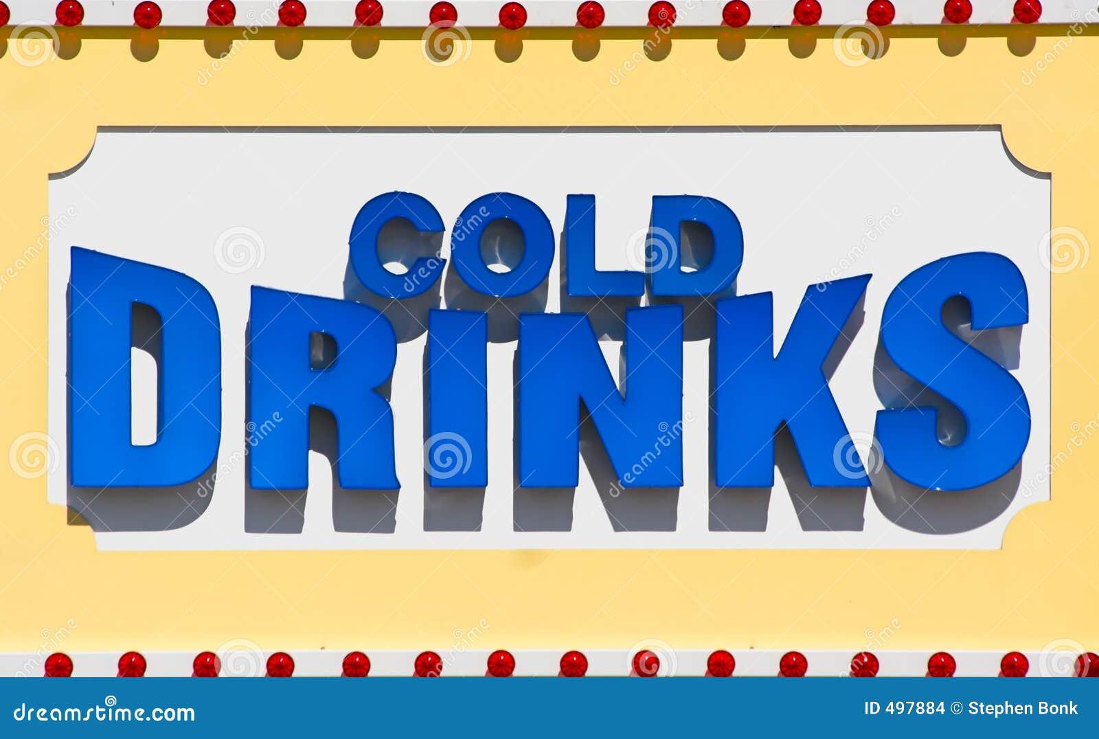 Zimno drinka znak
