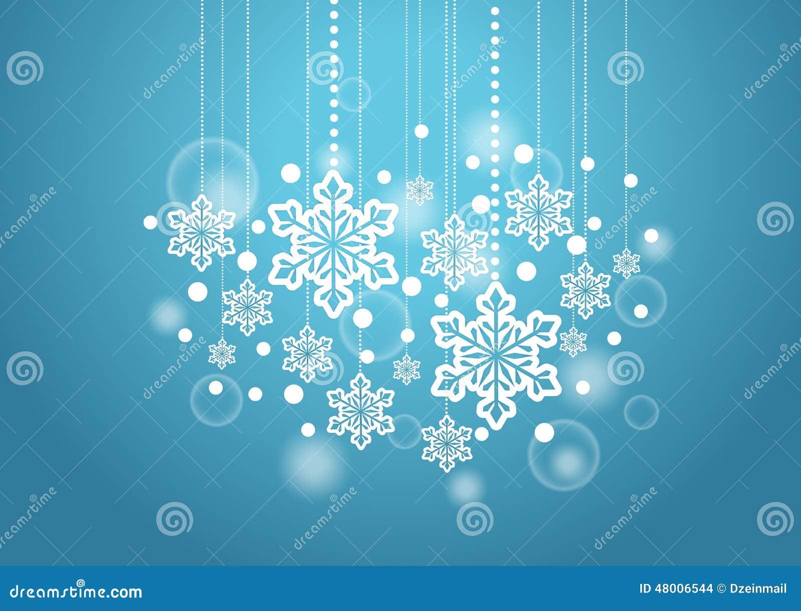 Zimy Piękny tło z Śnieżnymi płatkami Wiesza wzór