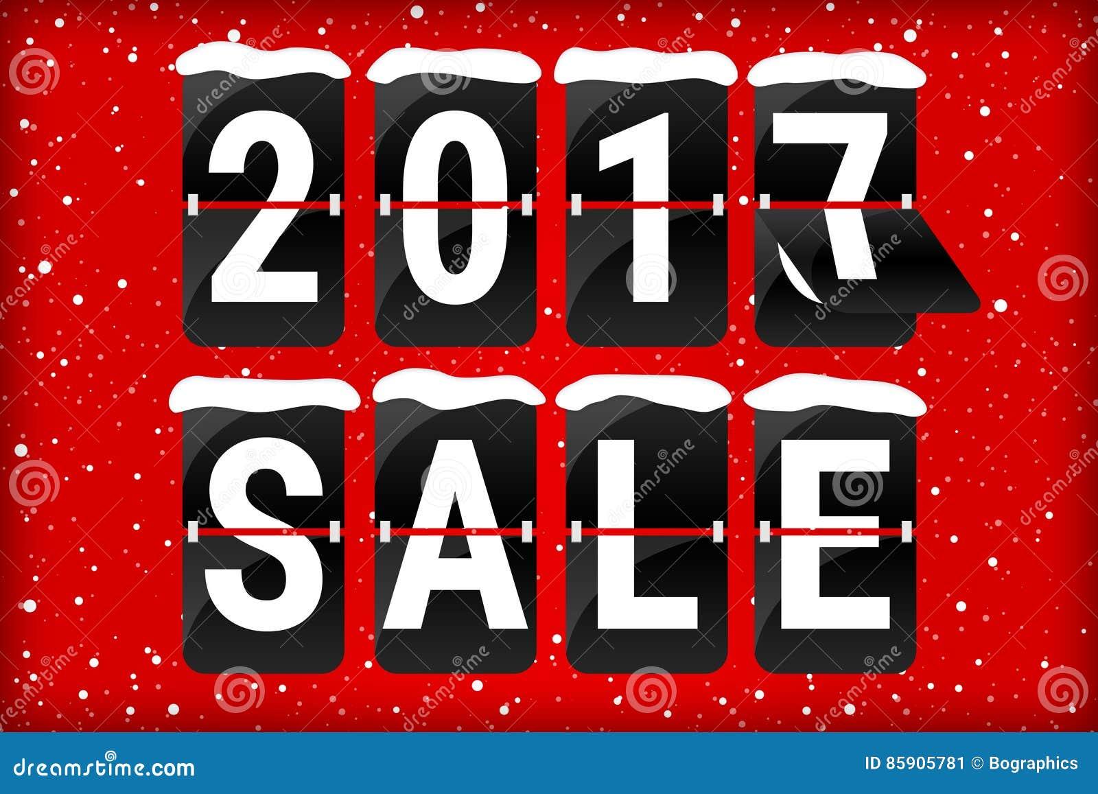Zimy sprzedaży 2017 trzepnięcia teksta analogowa czerwień