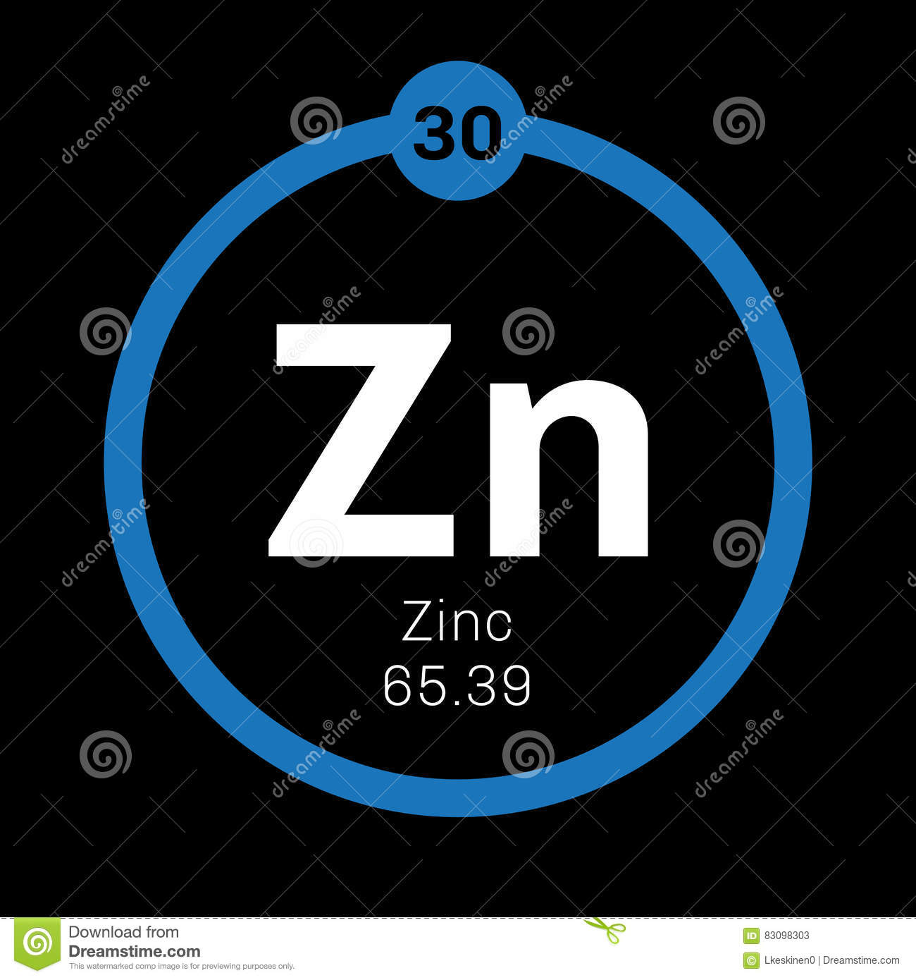 Zinc chemical element stock image image of periods education zinc chemical element common element on earth colored icon with atomic number and atomic weight chemical element of periodic table urtaz Image collections