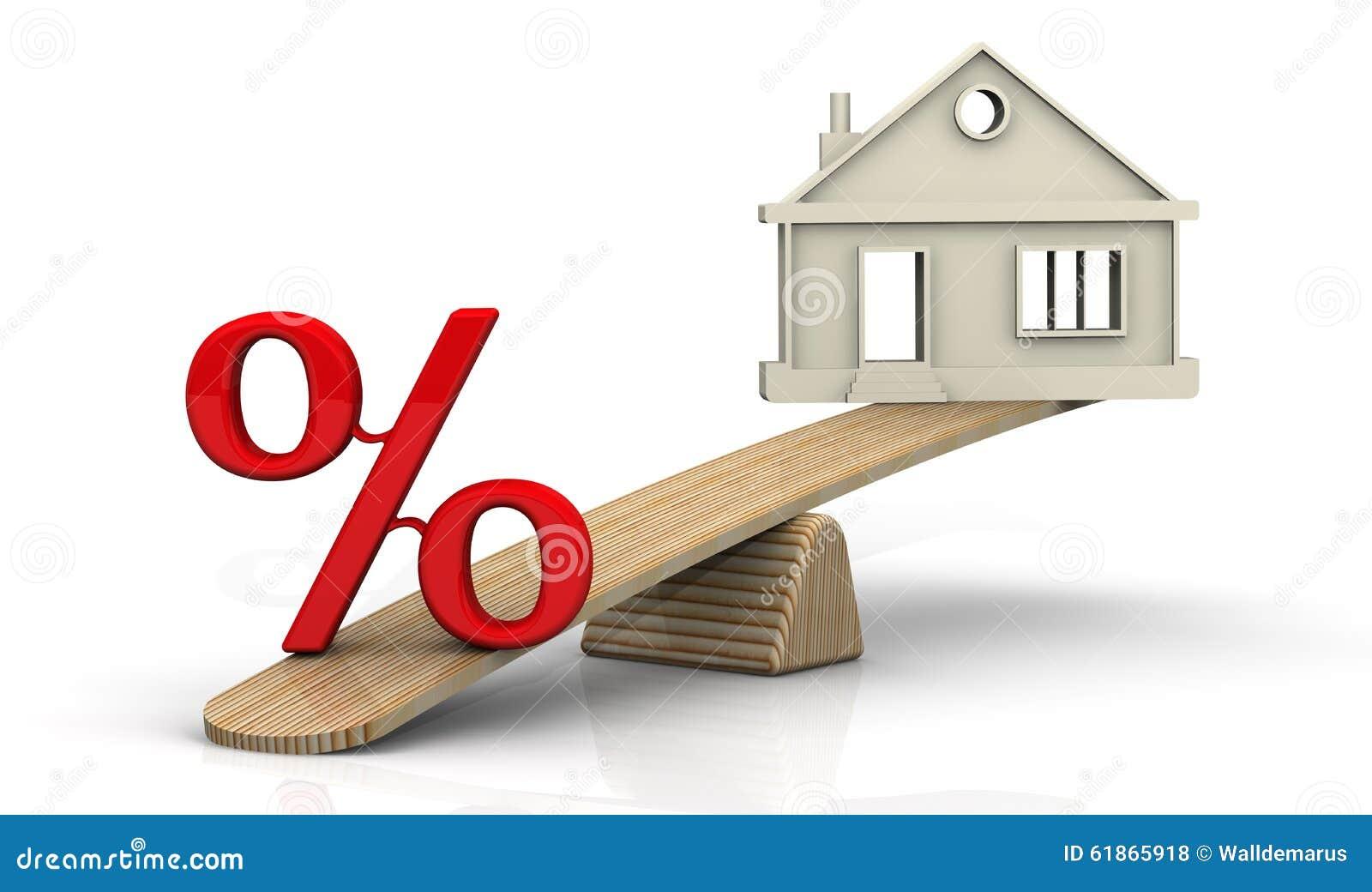 zinsen auf die hypothek konzept stock abbildung bild. Black Bedroom Furniture Sets. Home Design Ideas