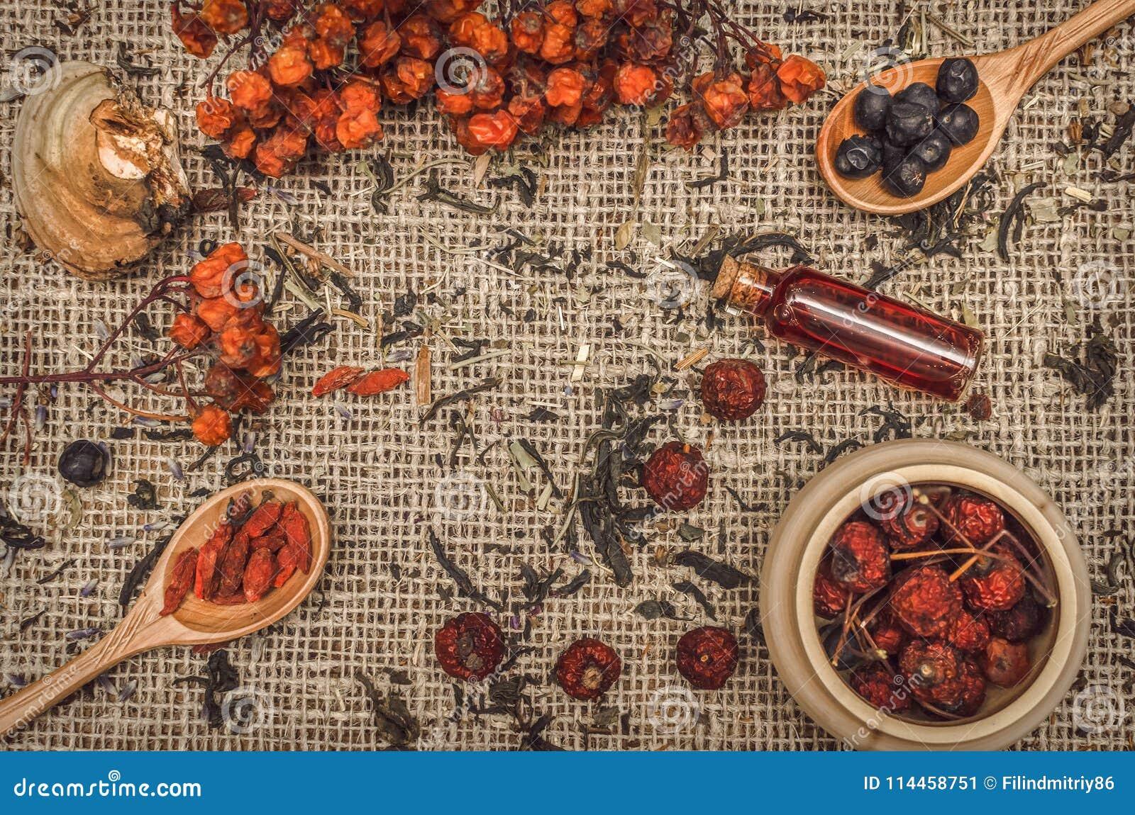 Ziołowy alternatywnej medycyny tło składniki organiczne
