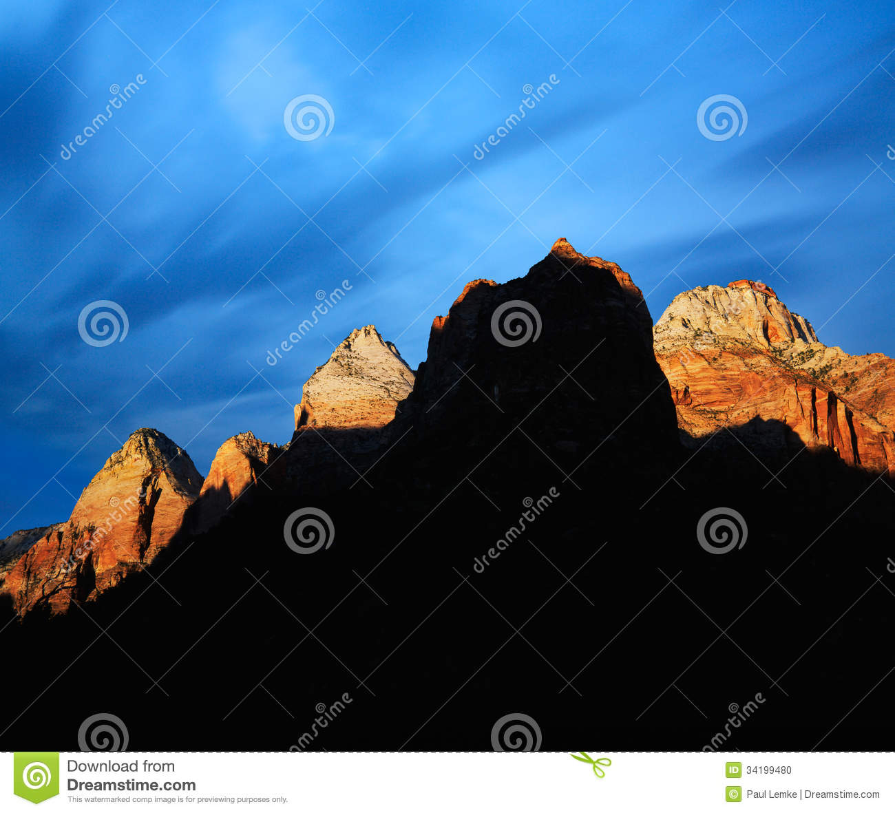 Zion peaks stock photo image 34199480 for Lit national