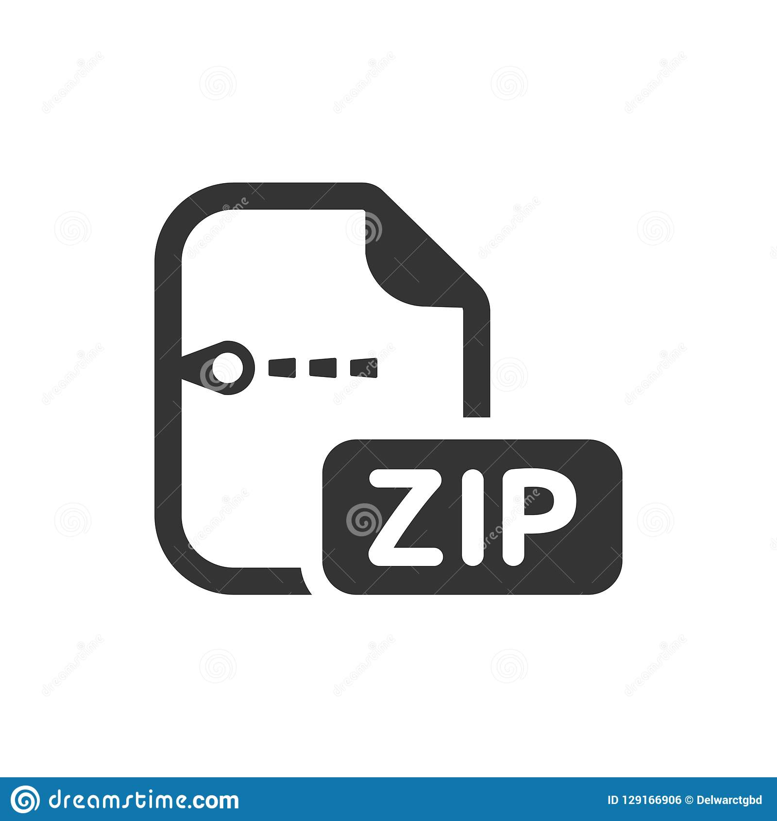 Zip File Icon stock vector  Illustration of compressed