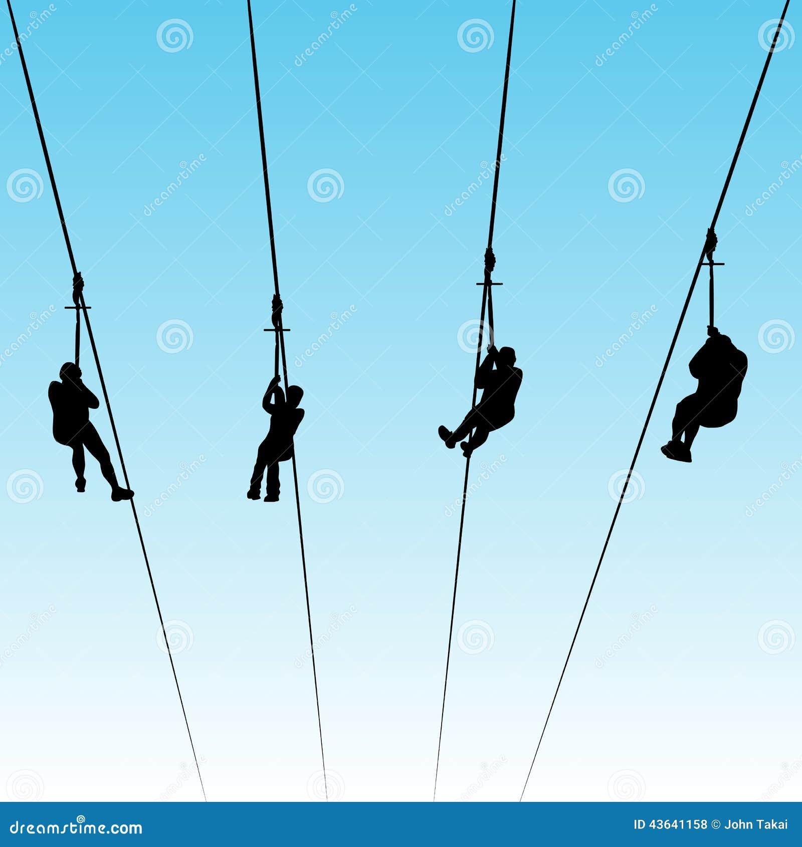 Zip Line Clipart : Zip line race stock vector image
