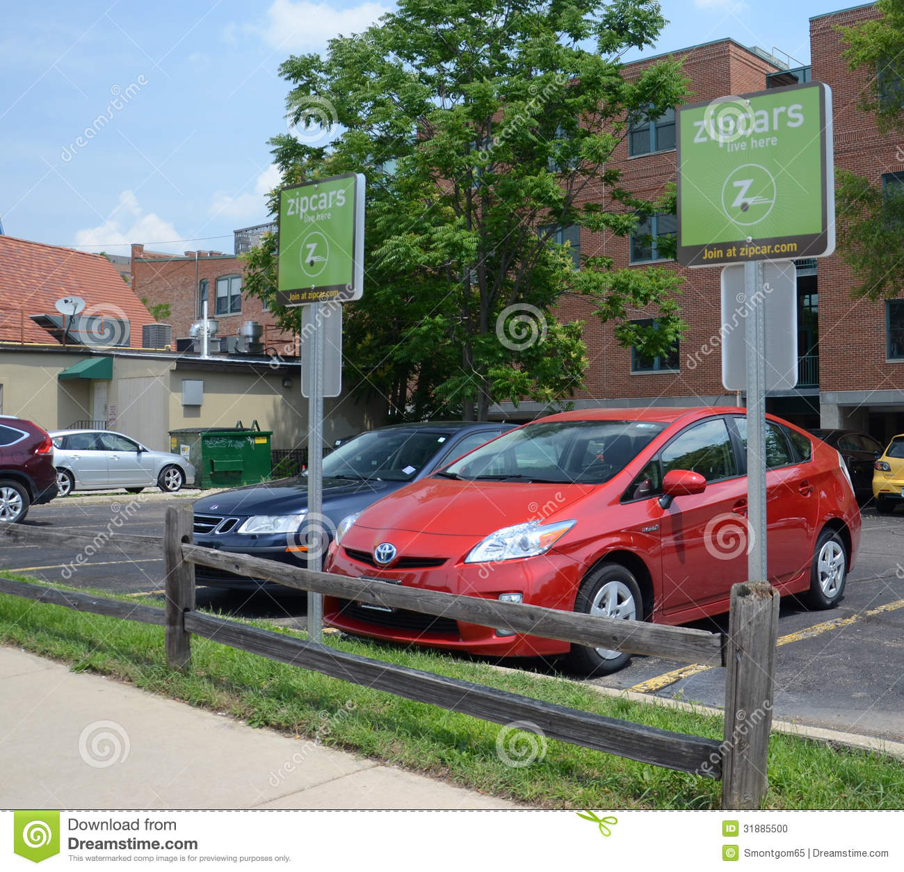 Zipcar Lot In Ann Arbor Editorial Image. Image Of