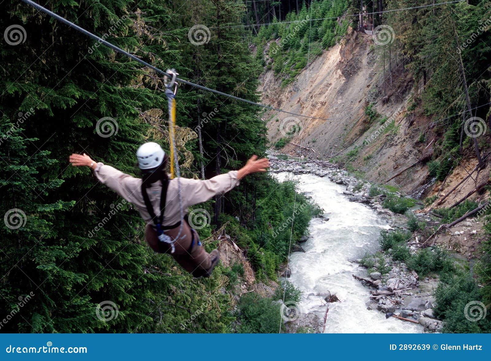 Ziplining, Whistler Mountain Royalty Free Stock Images ...