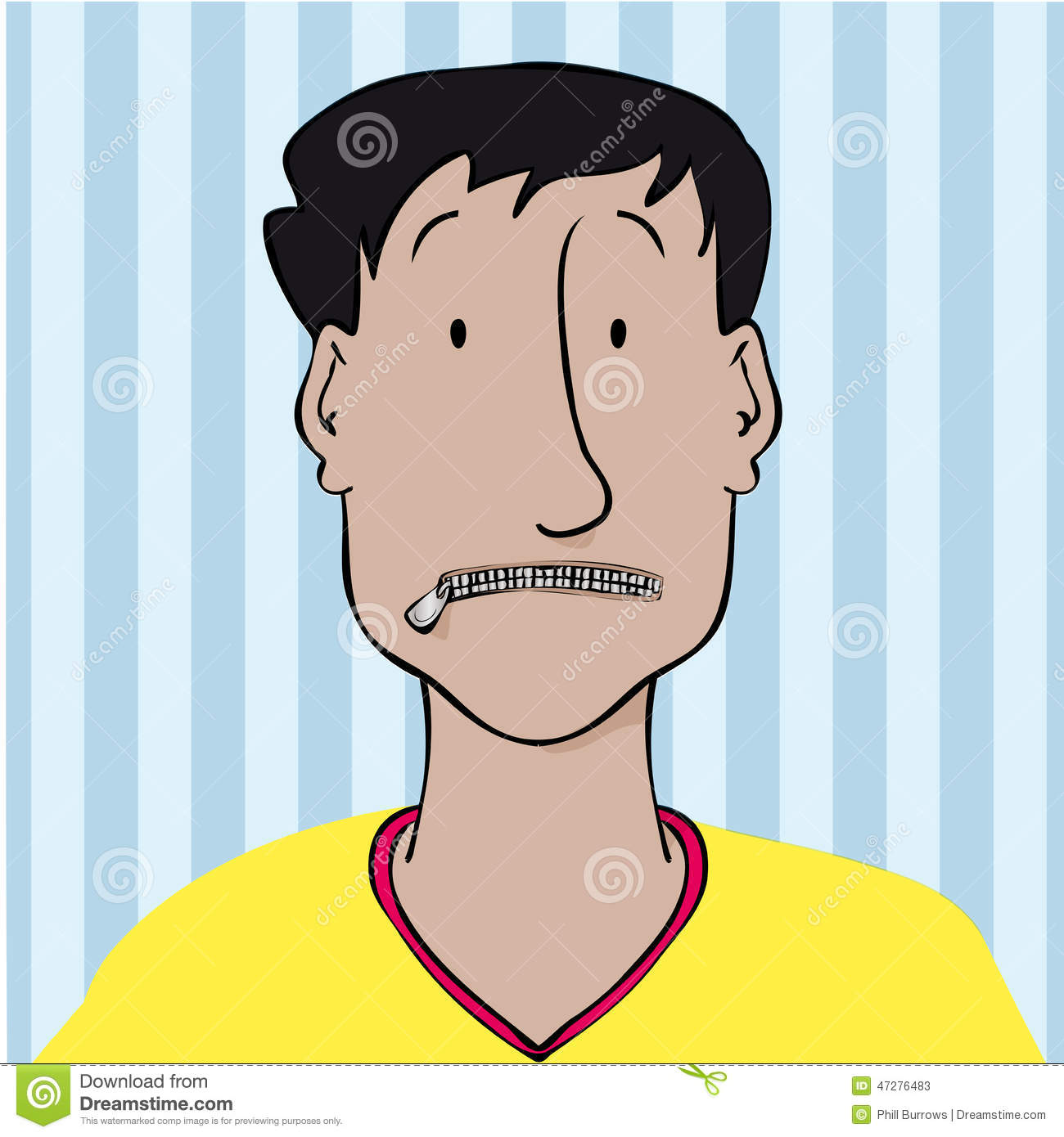 Zipped Mouth Stock Vector - Image: 47276483