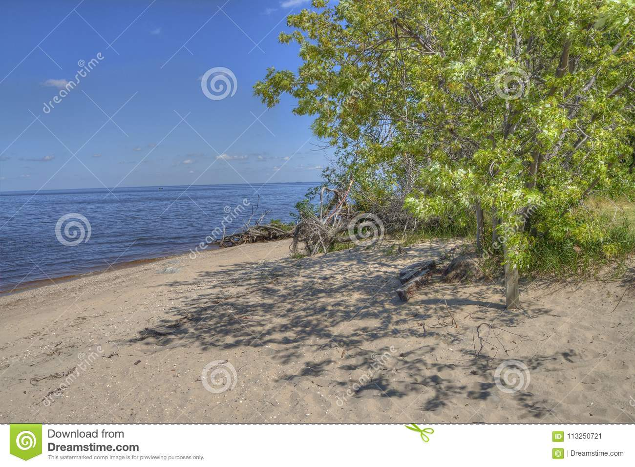 Zippel Bay State Park On Lake Of The Woods, Minnesota Stock