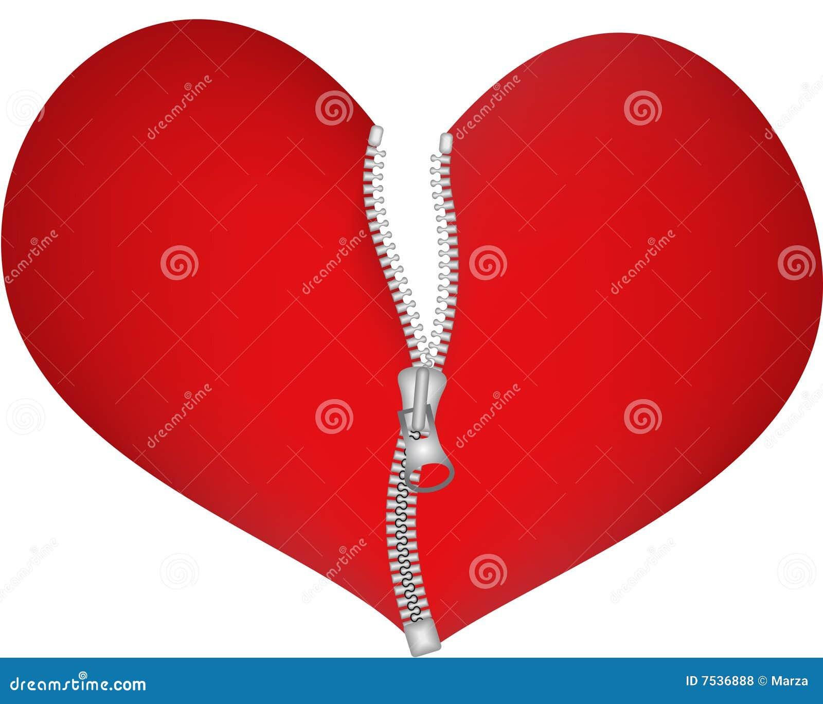 Zipper Heart Royalty Free Stock Photos - Image: 7536888