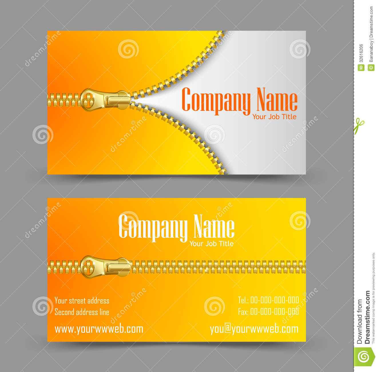 Zipper theme business card stock vector. Illustration of businessman ...