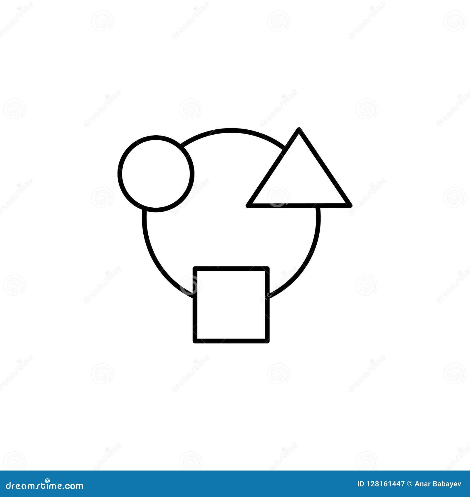 Zirkulation, Mähdrescher, Verschiedenartigkeit, Integration, Eigenschaftenikone Element der Gelddiversifikationsillustration Zeic