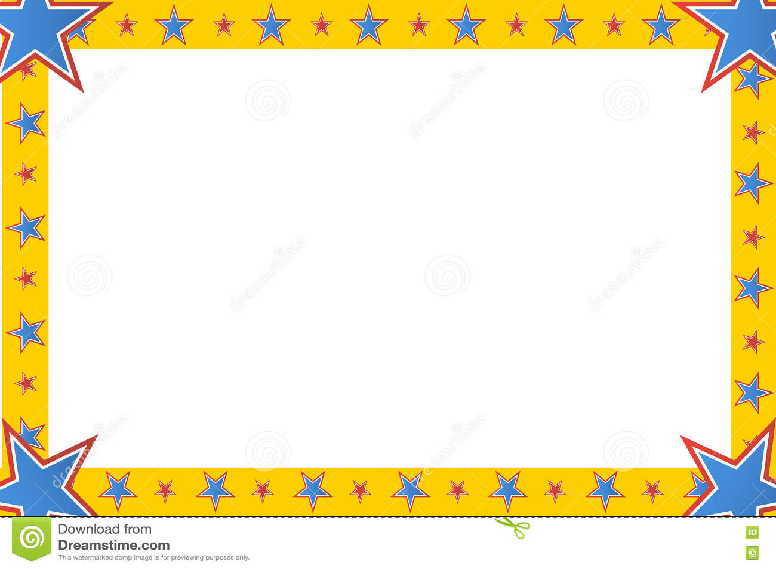 Zirkus-Stern-Quadrat-Rahmen Vektor Abbildung - Illustration von ...