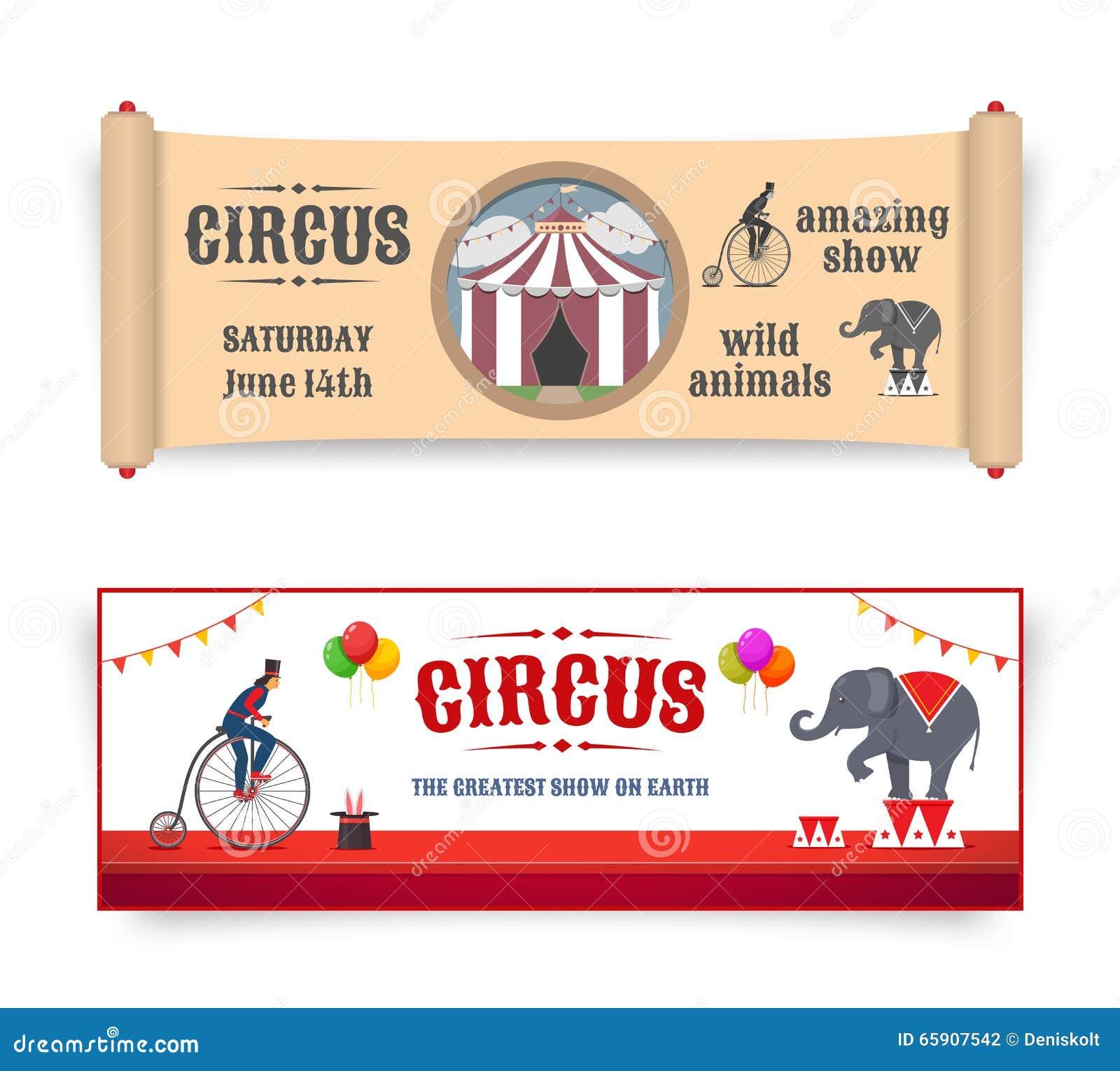 Zirkusfahnenillustrationen