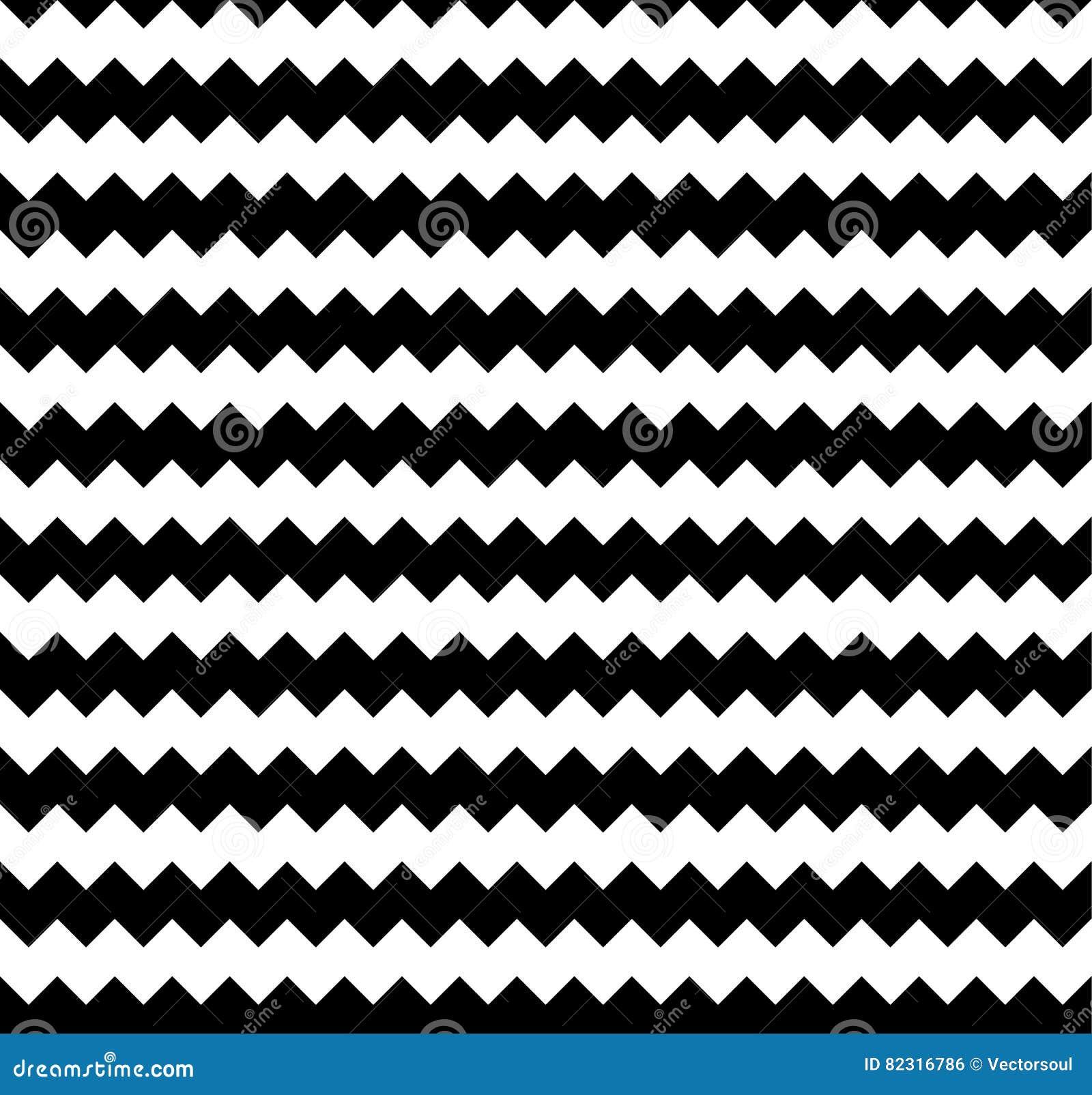 Zirytowany płynnie powtarzalny zygzakowaty wzór Abstrakcjonistyczny monochrom