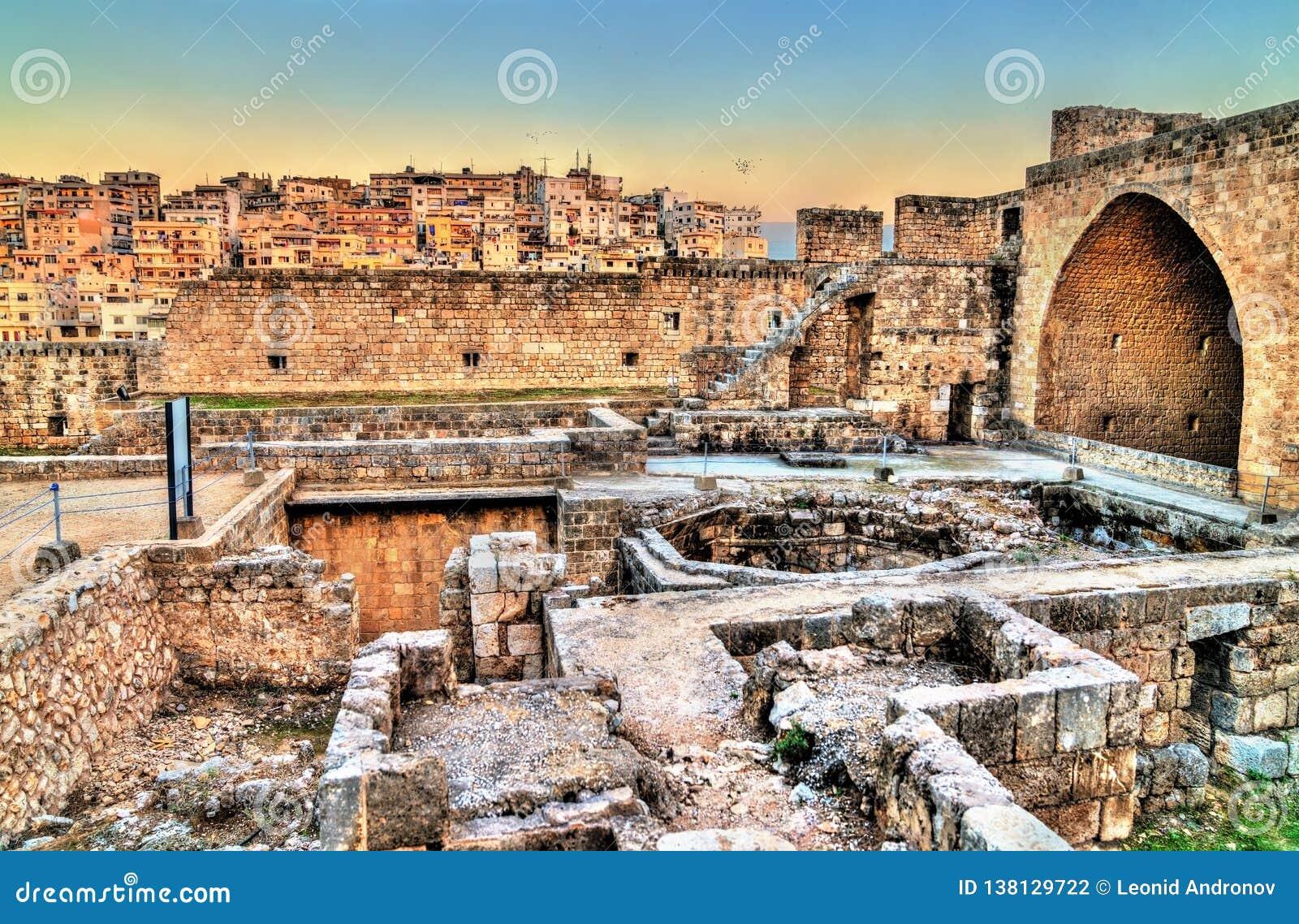 Zitadelle von Raymond de Saint-Gilles in Tripoli, der Libanon