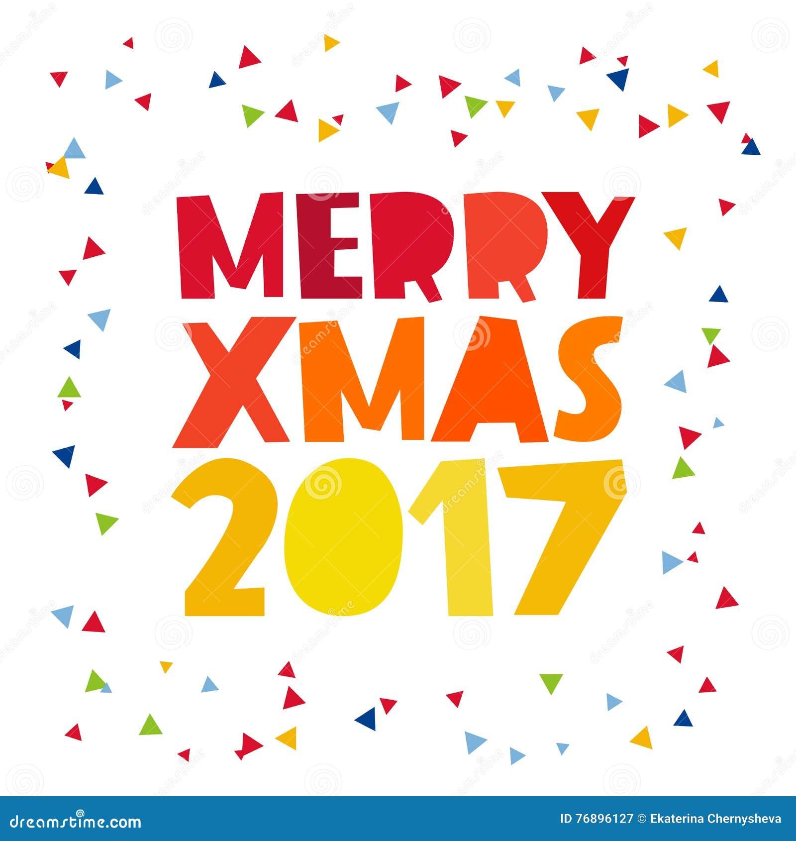 Zitat-frohe Weihnachten 2017 Vektor Abbildung - Illustration von ...
