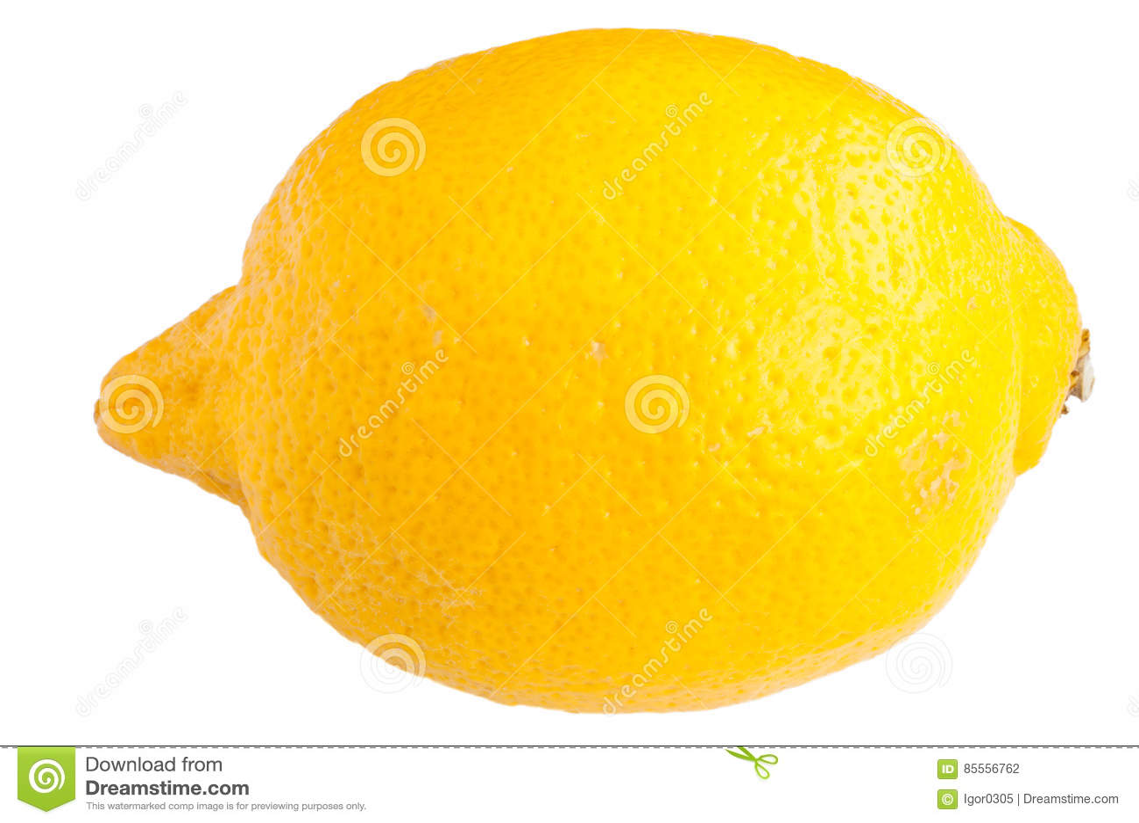 Zitrone auf dem Weiß