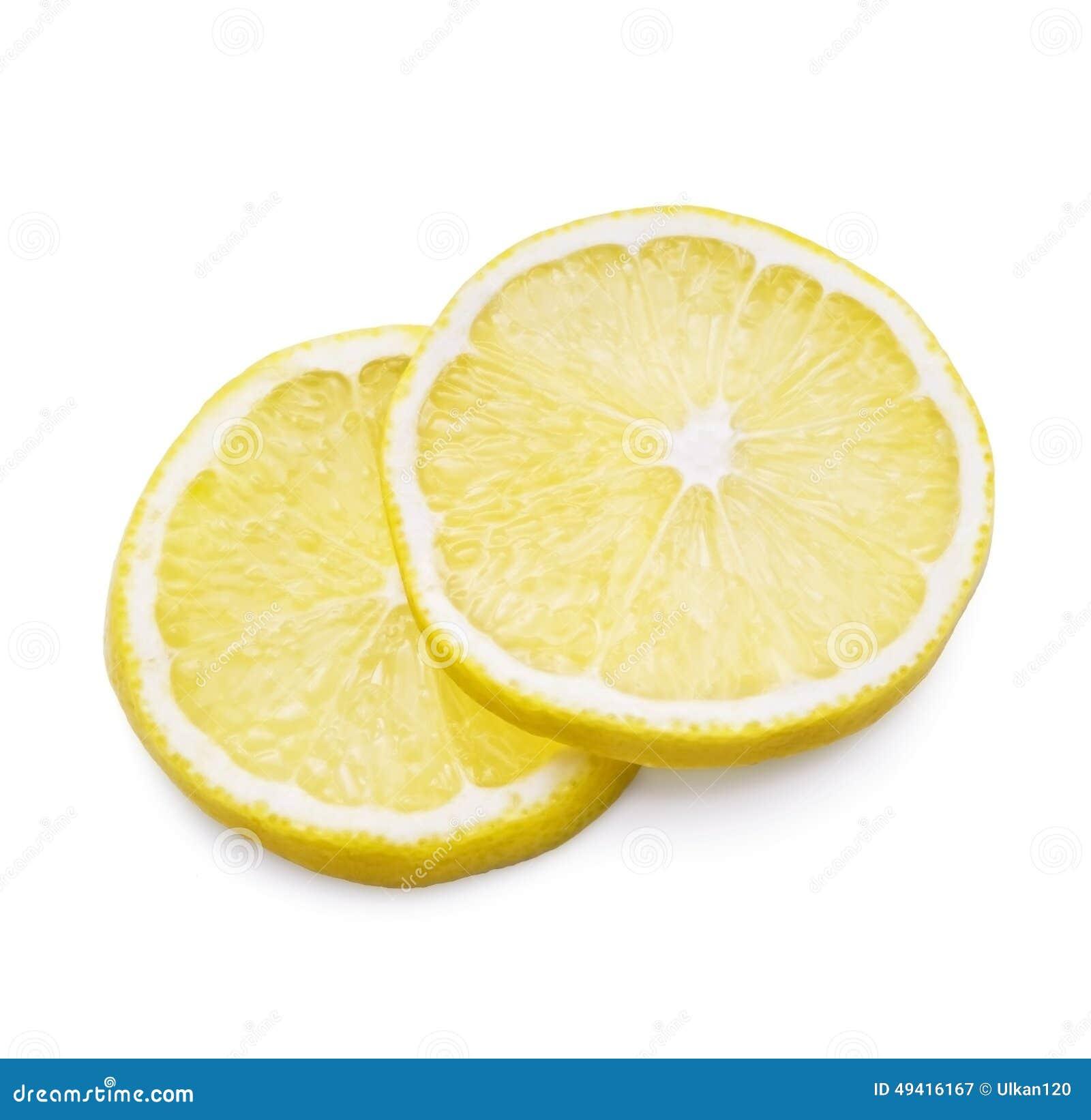 Download Zitrone auf Weiß stockbild. Bild von erfrischung, gesund - 49416167