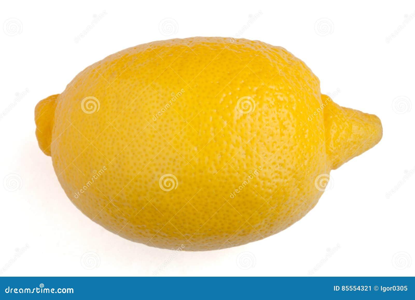 Zitrone auf weißem Hintergrund