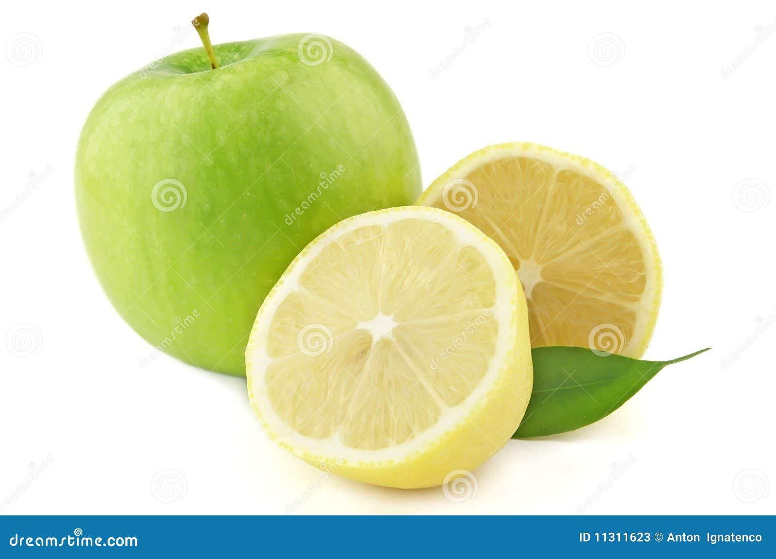 Zitrone und Apfel