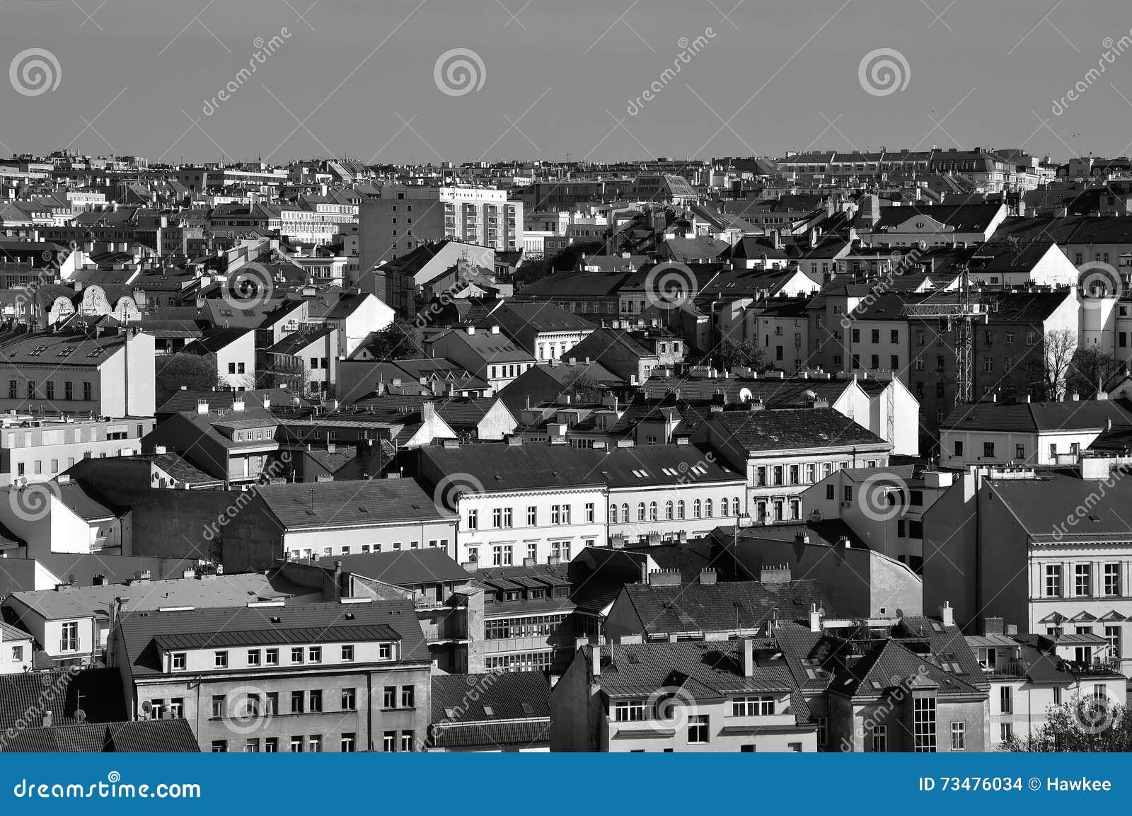 Zizkov区在布拉格,捷克