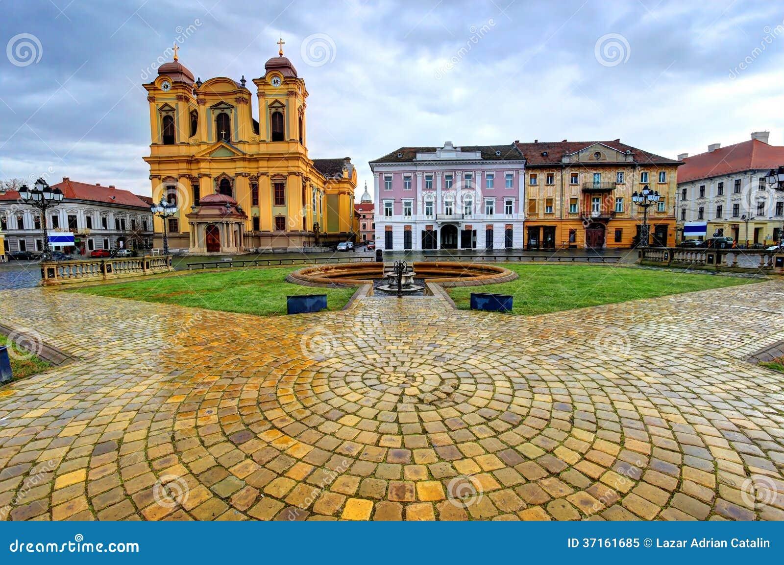 Zjednoczenie kwadrat, Timisoara, Rumunia