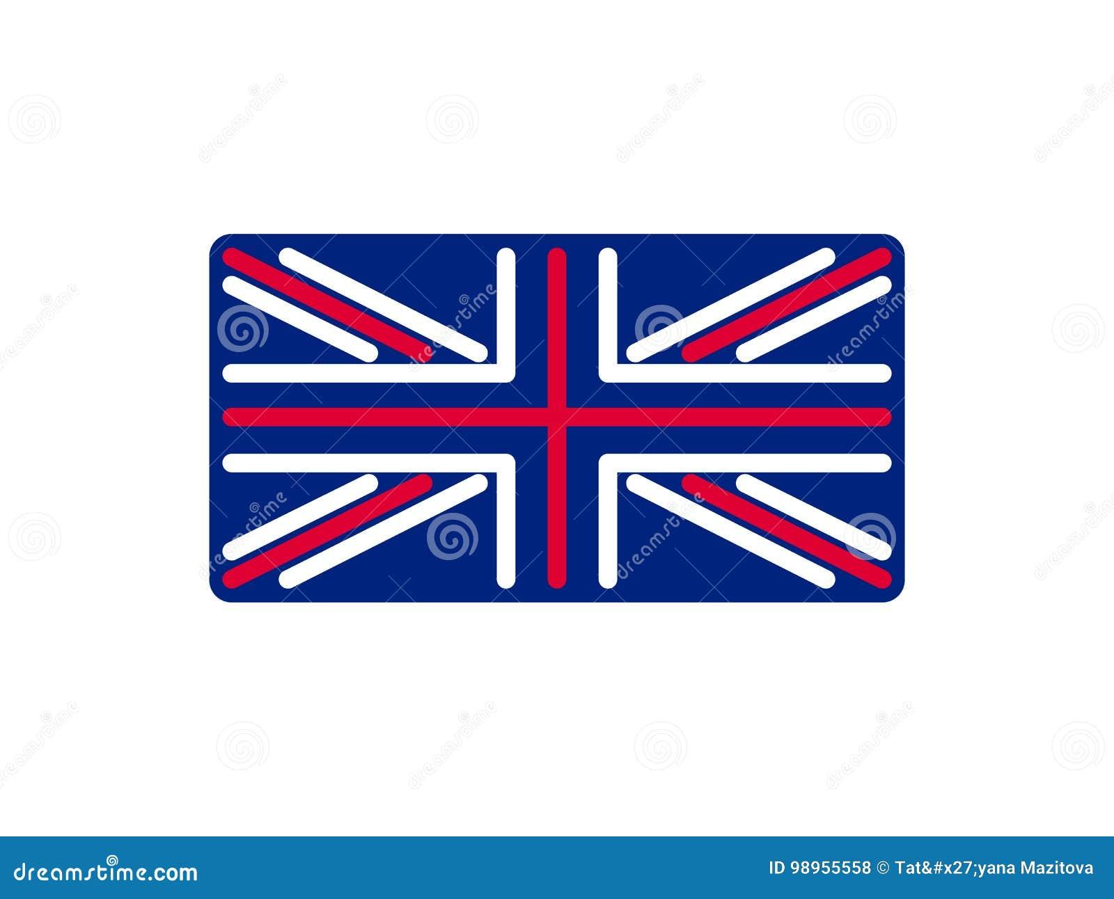 Zjednoczone Królestwo chorągwiany liniowy styl Szyldowy Brytania Krajowy symbol
