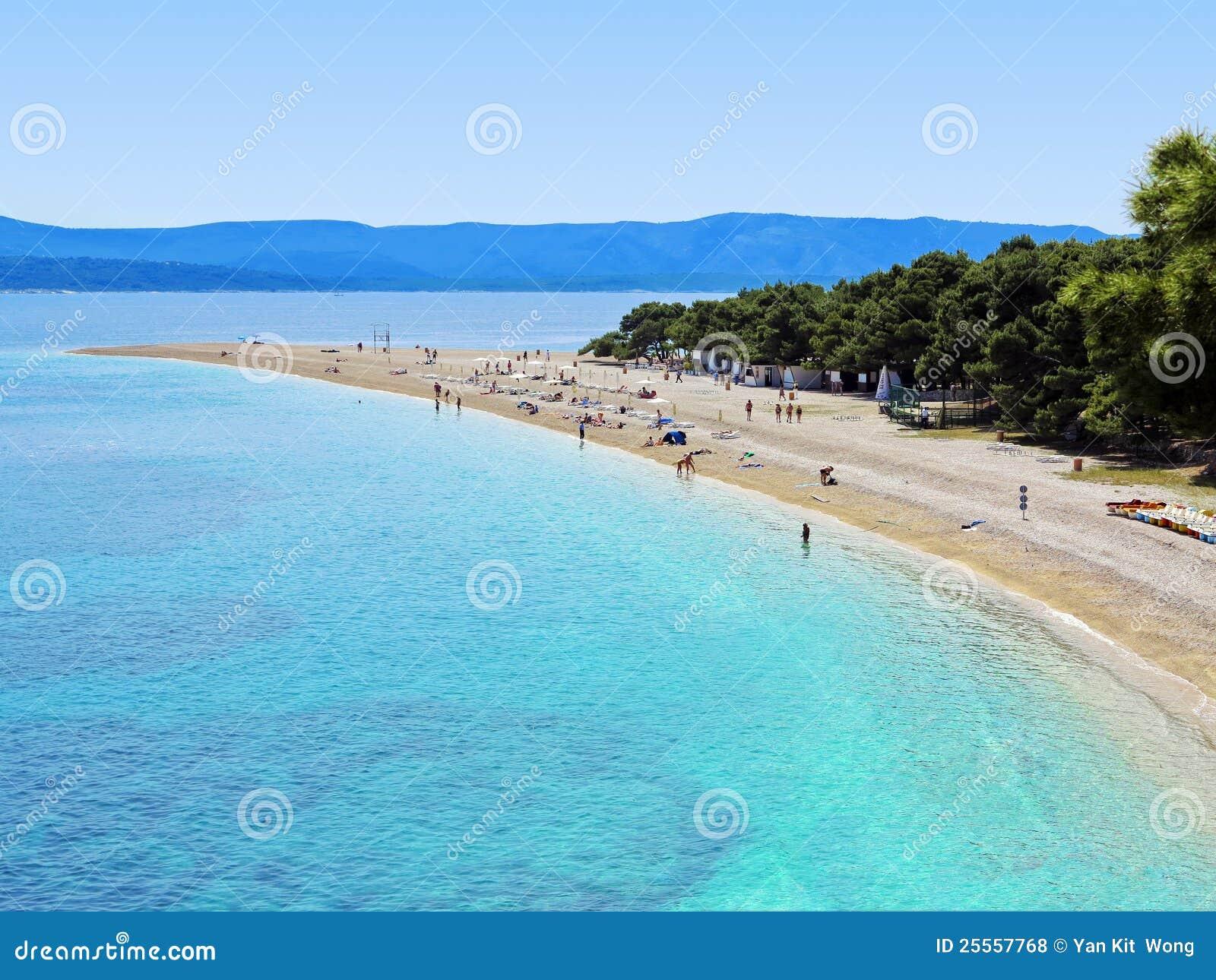 Zlatni Rat (Golden Cape) beach in Croatia