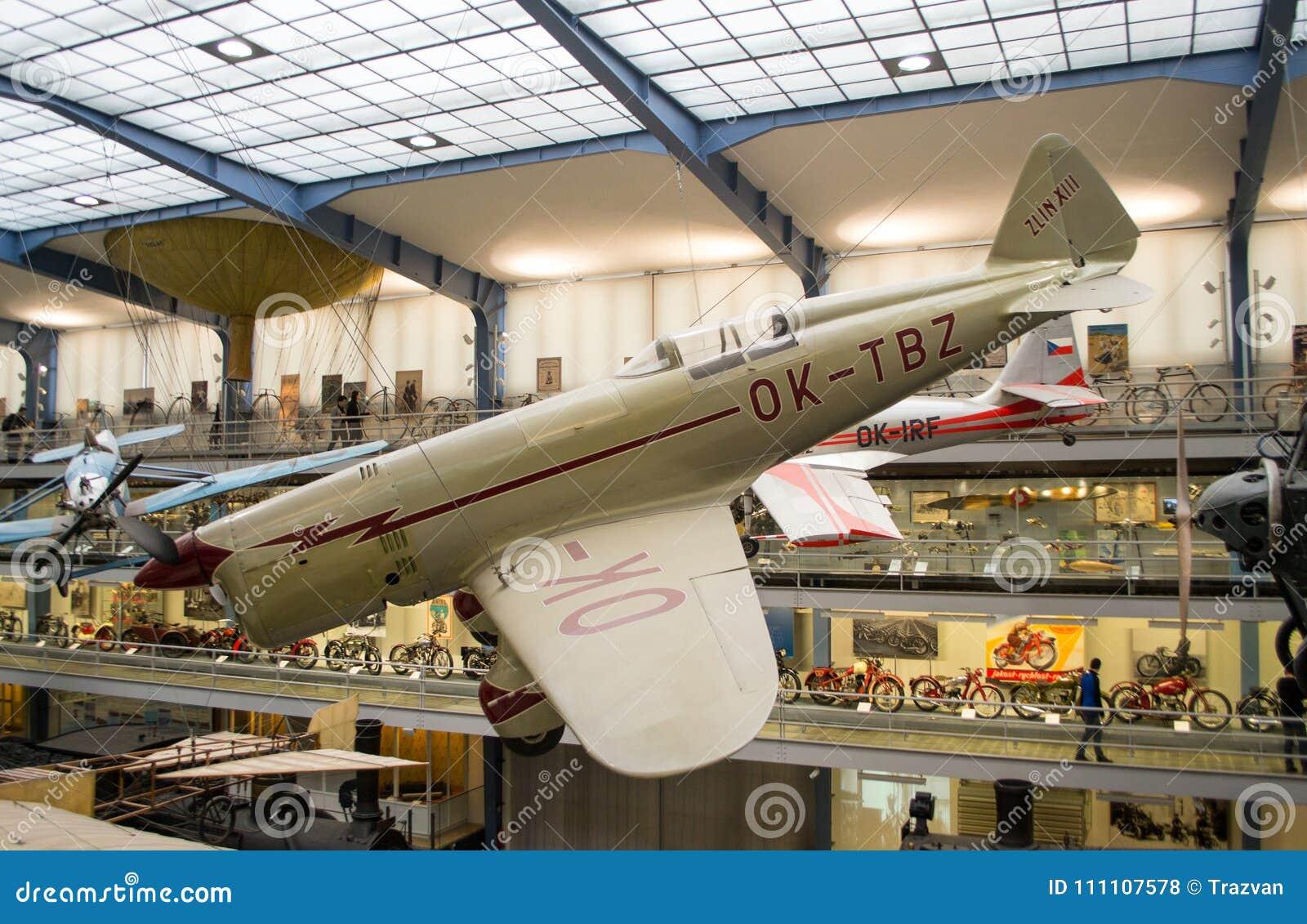 Zlin XIII, registrering OK-TBZ, nationellt tekniskt museum, Prague, Tjeckien