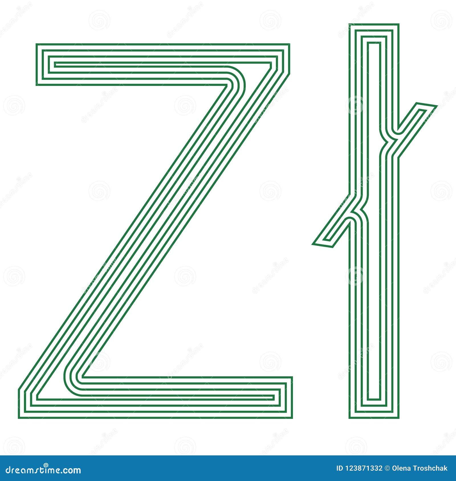 Zloty Polish Symbol Currency Unit Icon Striped Vector Illustration