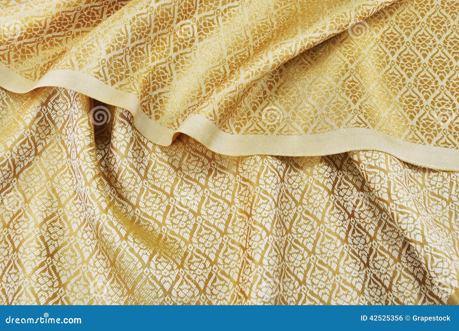 Zmięta Tajlandzka jedwabnicza tkanina