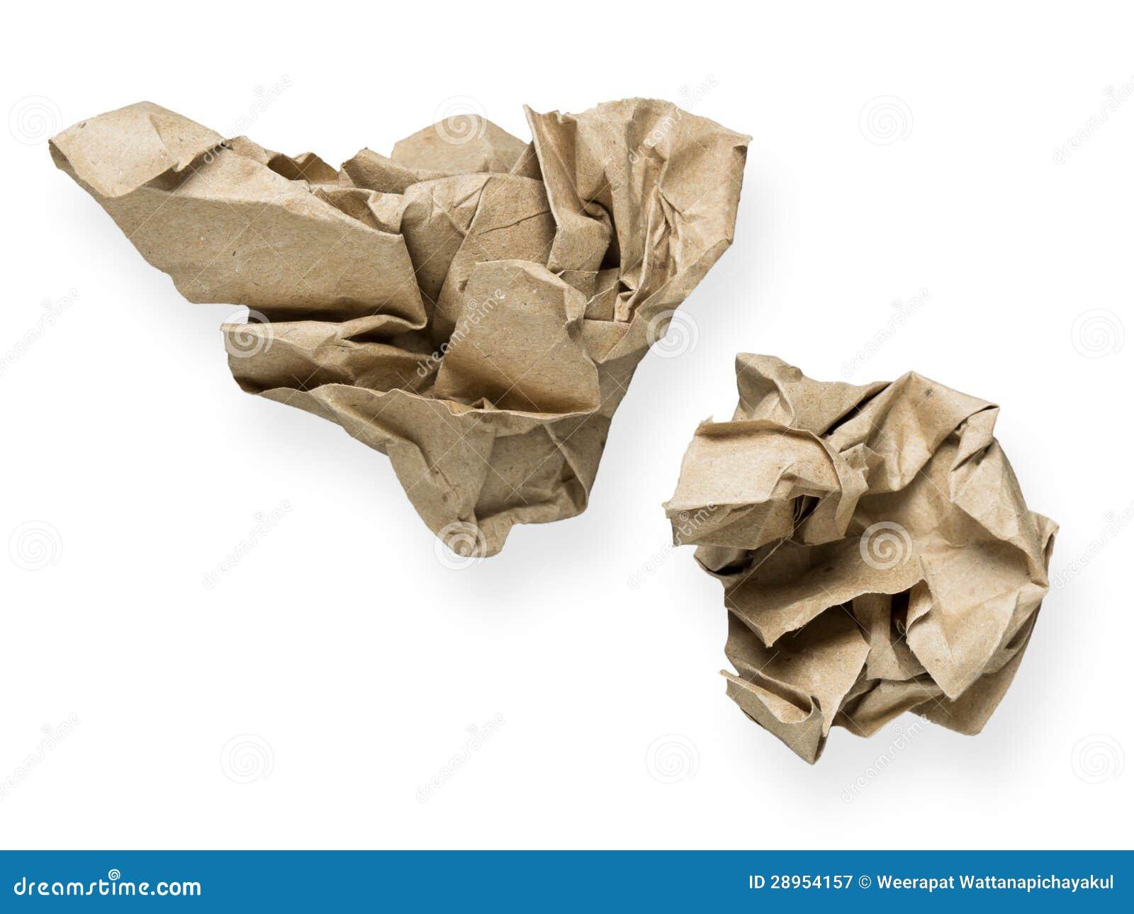 Zmięty papier