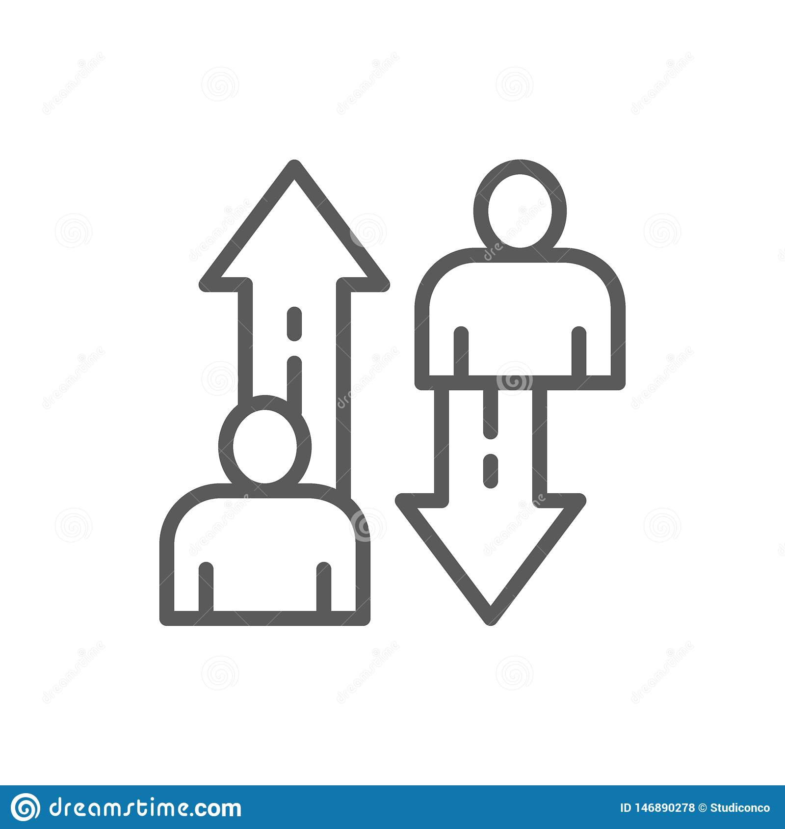 Zmiana pracownicy, drużynowa rywalizacji linii ikona