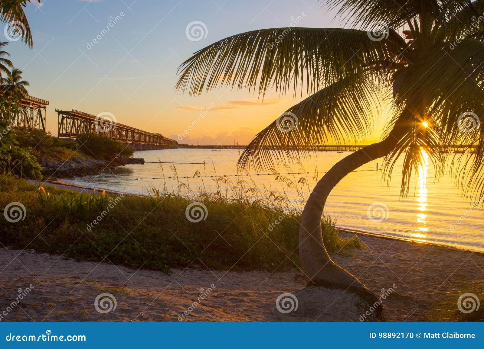 Zmierzch, Bahia Honda stanu park, Floryda klucze