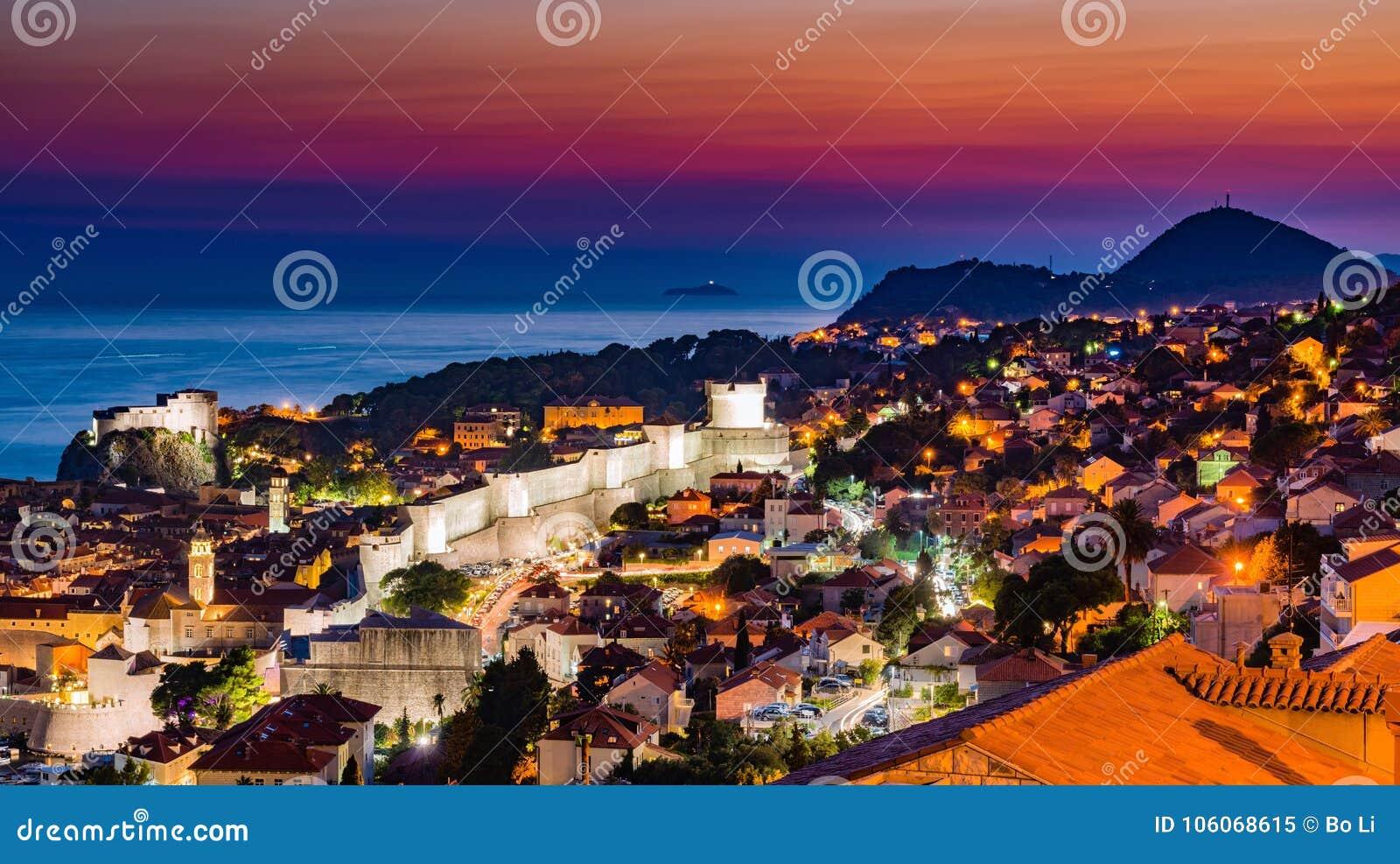 Zmierzch Dubrovnik w Chorwacja