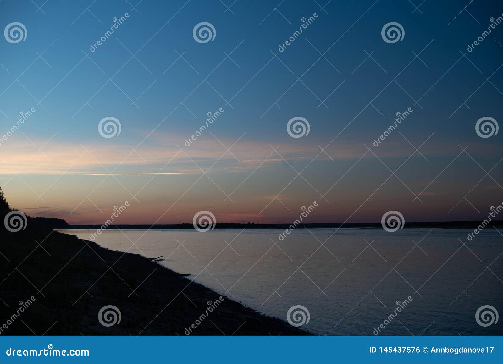 Zmierzch na rzece LATO krajobraz piknik
