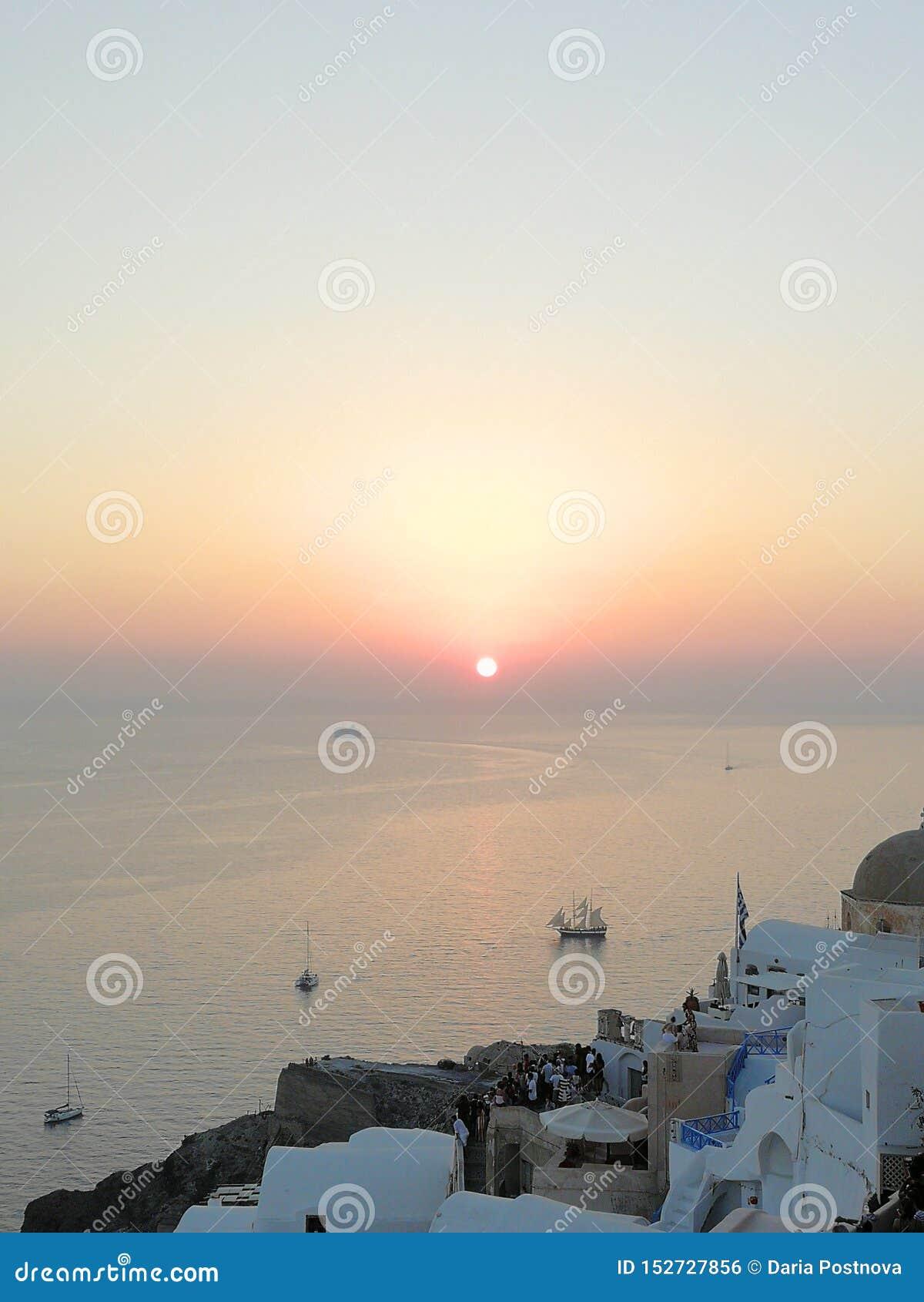 Zmierzch na Santorini
