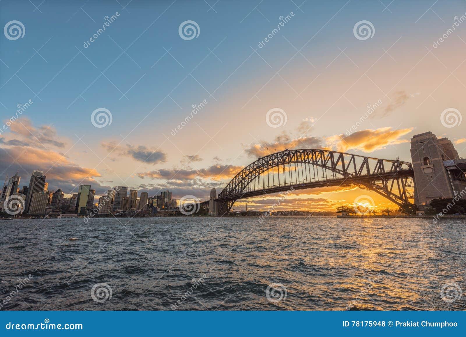 Zmierzch na Sydney schronieniu Sydney Australia