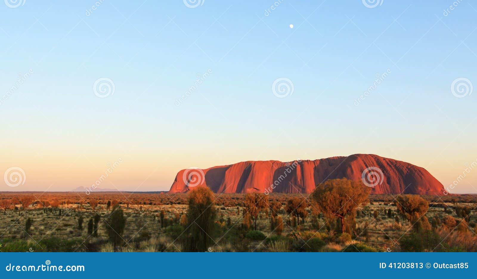 Zmierzch nad Uluru, Ayers skała
