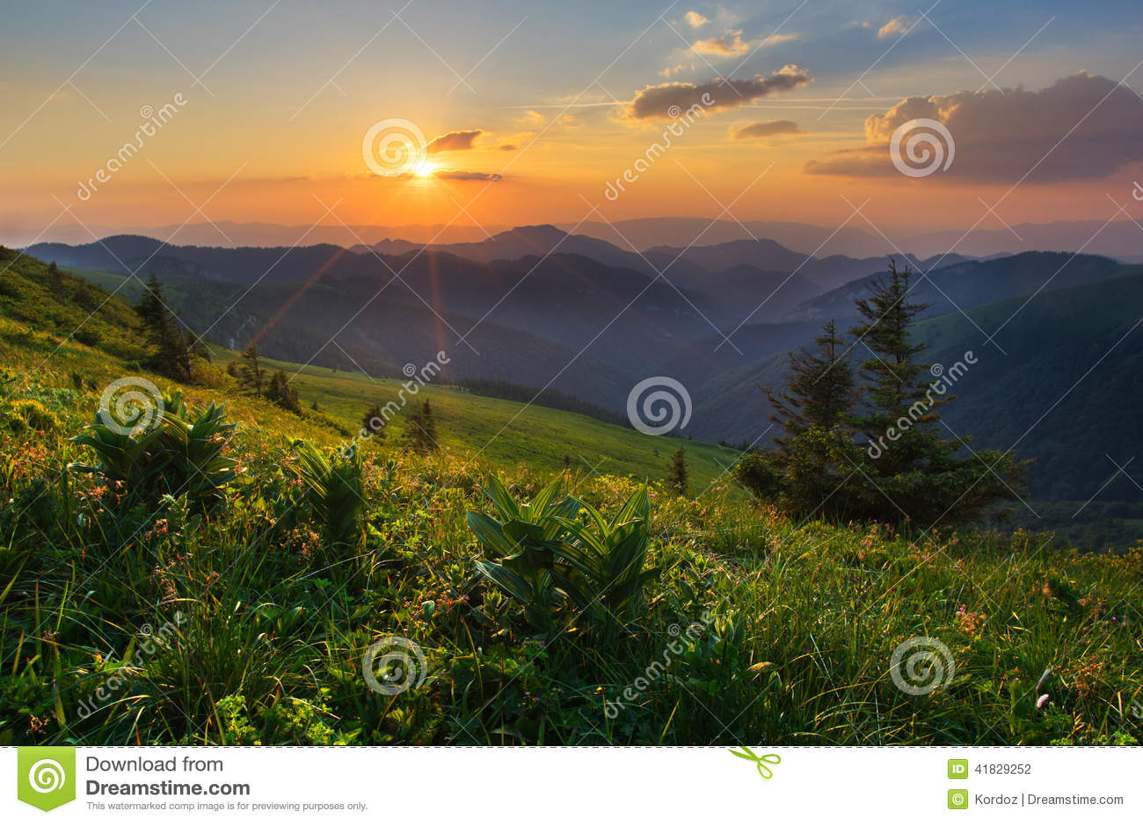 Zmierzch w Velka Fatra górach