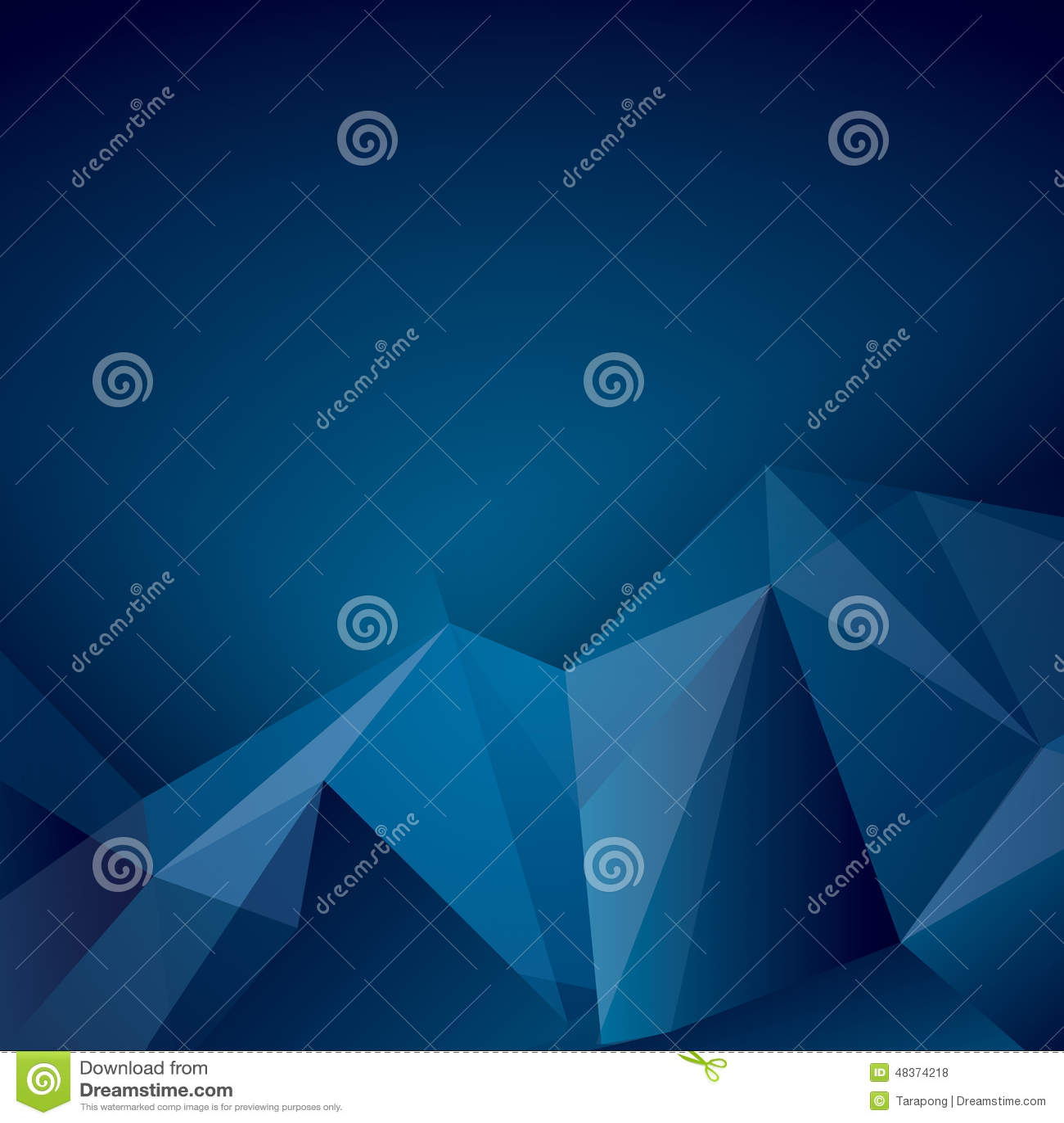 Zmrok - błękitny poligonalny wektorowy tło