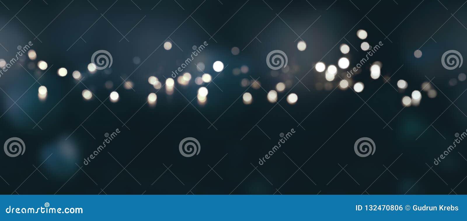 Zmrok - błękitny tło z srebnymi światłami