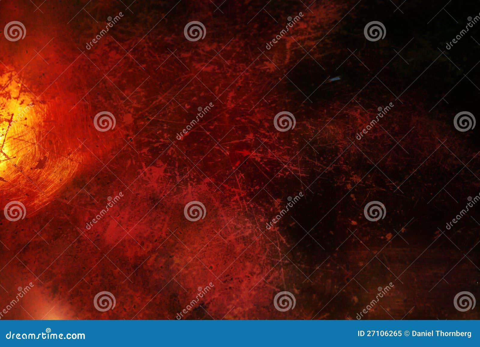 Zmrok - z narysami grunge czerwony tło
